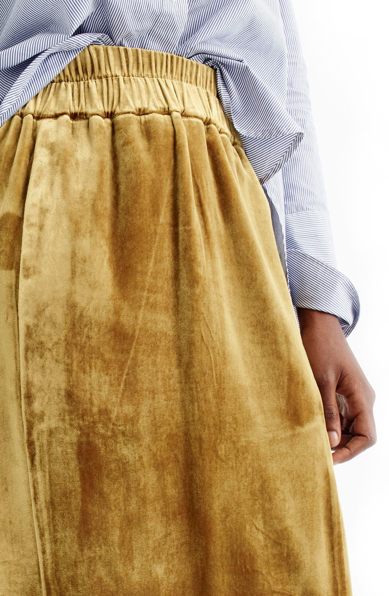 Pull-On Velvet Skirt,                             Alternate thumbnail 4, color,