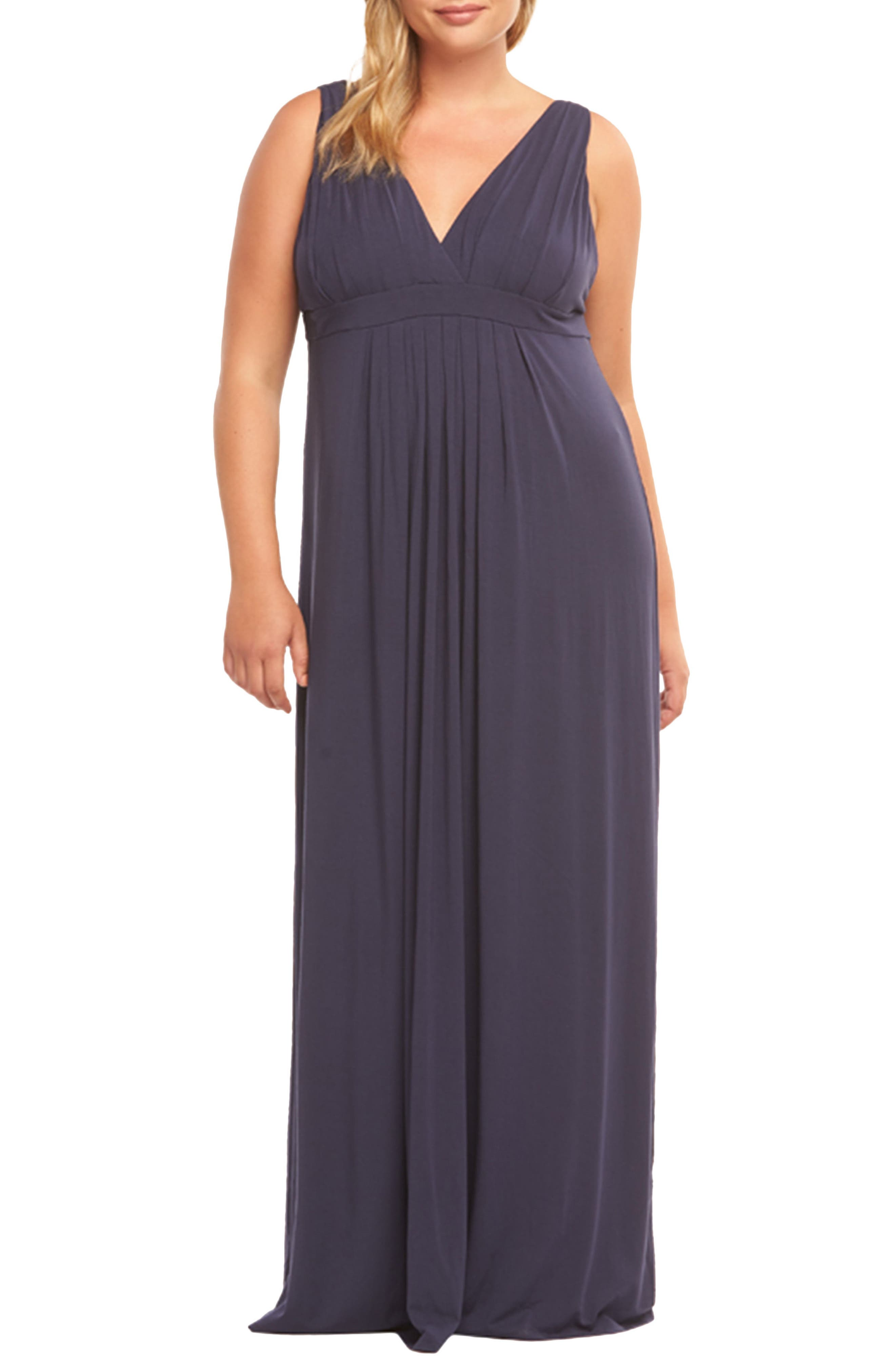 Plus Size Tart Chael Lace-Up Back Maxi Dress, Black