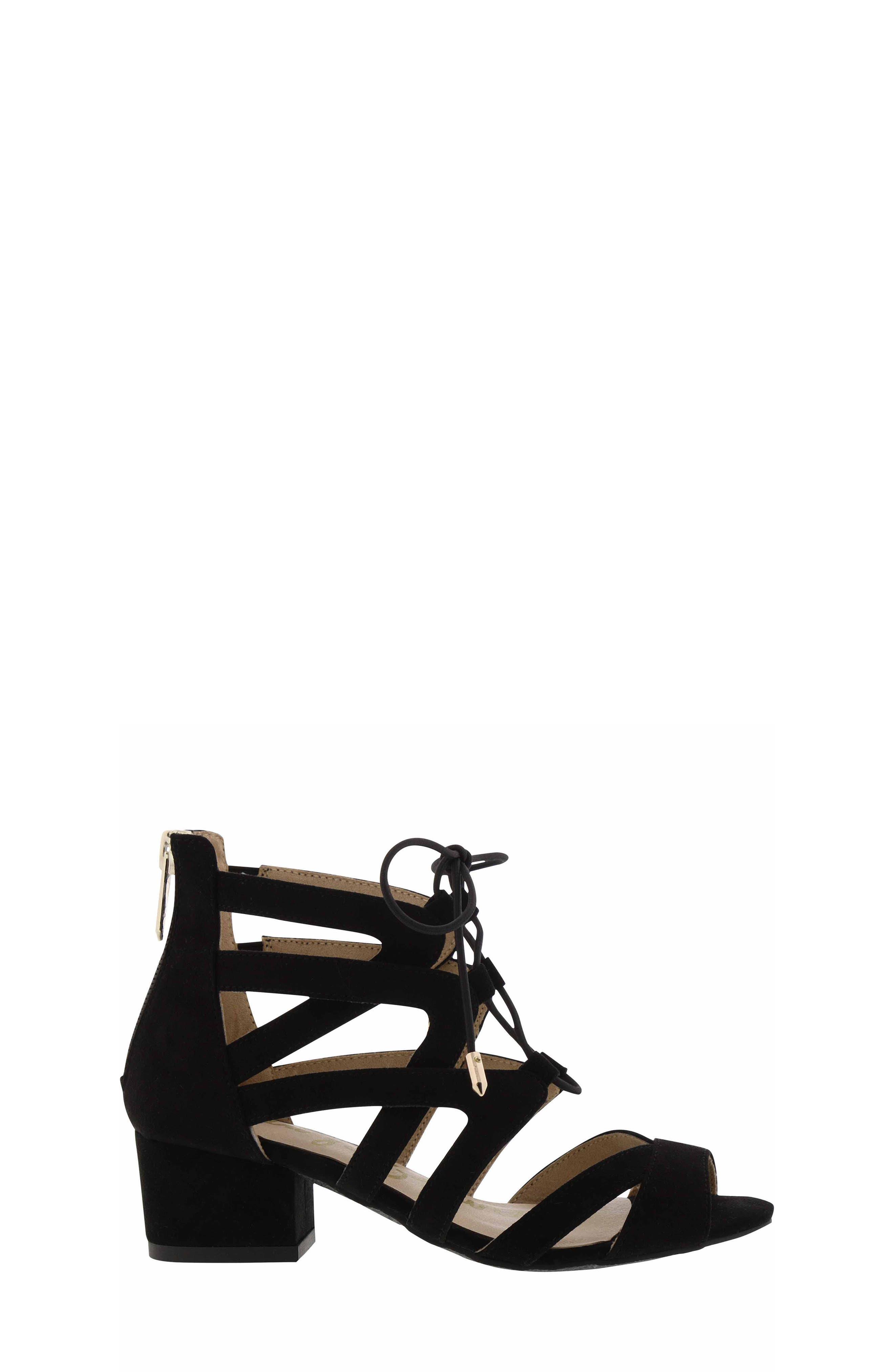Evelyn Gladiator Sandal,                             Alternate thumbnail 3, color,                             BLACK