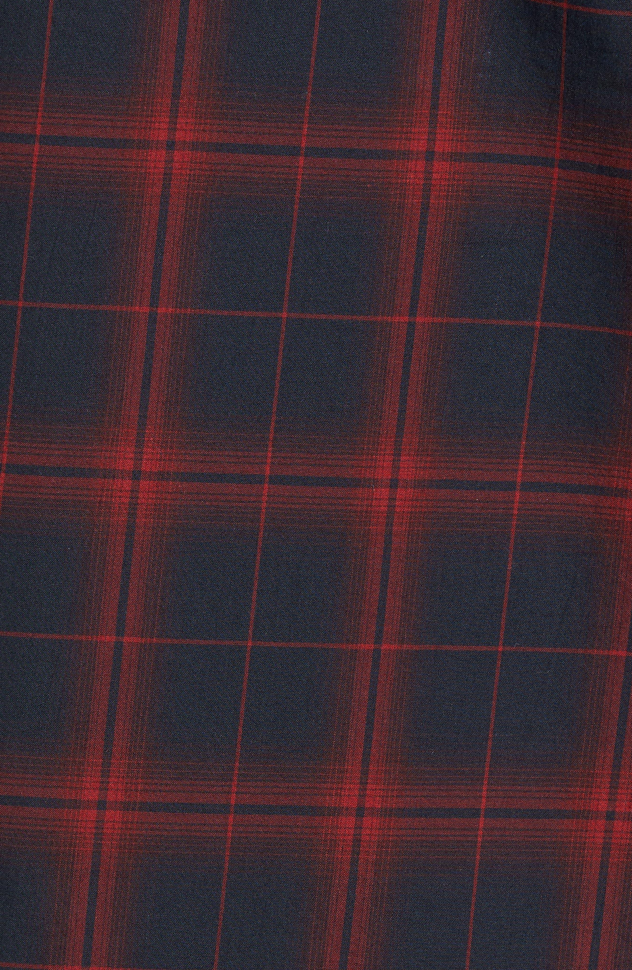 Trim Fit Windowpane Check Sport Shirt,                             Alternate thumbnail 5, color,                             001
