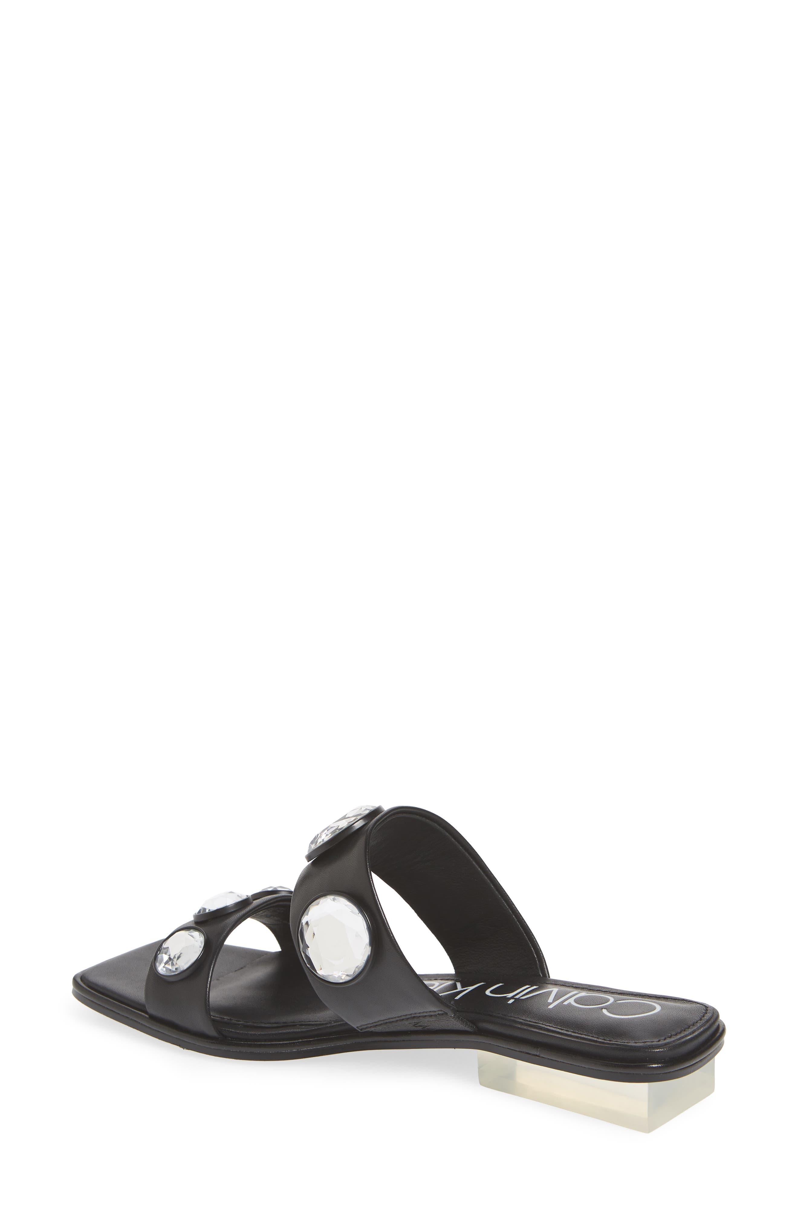 Kace Crystal Embellished Slide Sandal,                             Alternate thumbnail 2, color,                             001