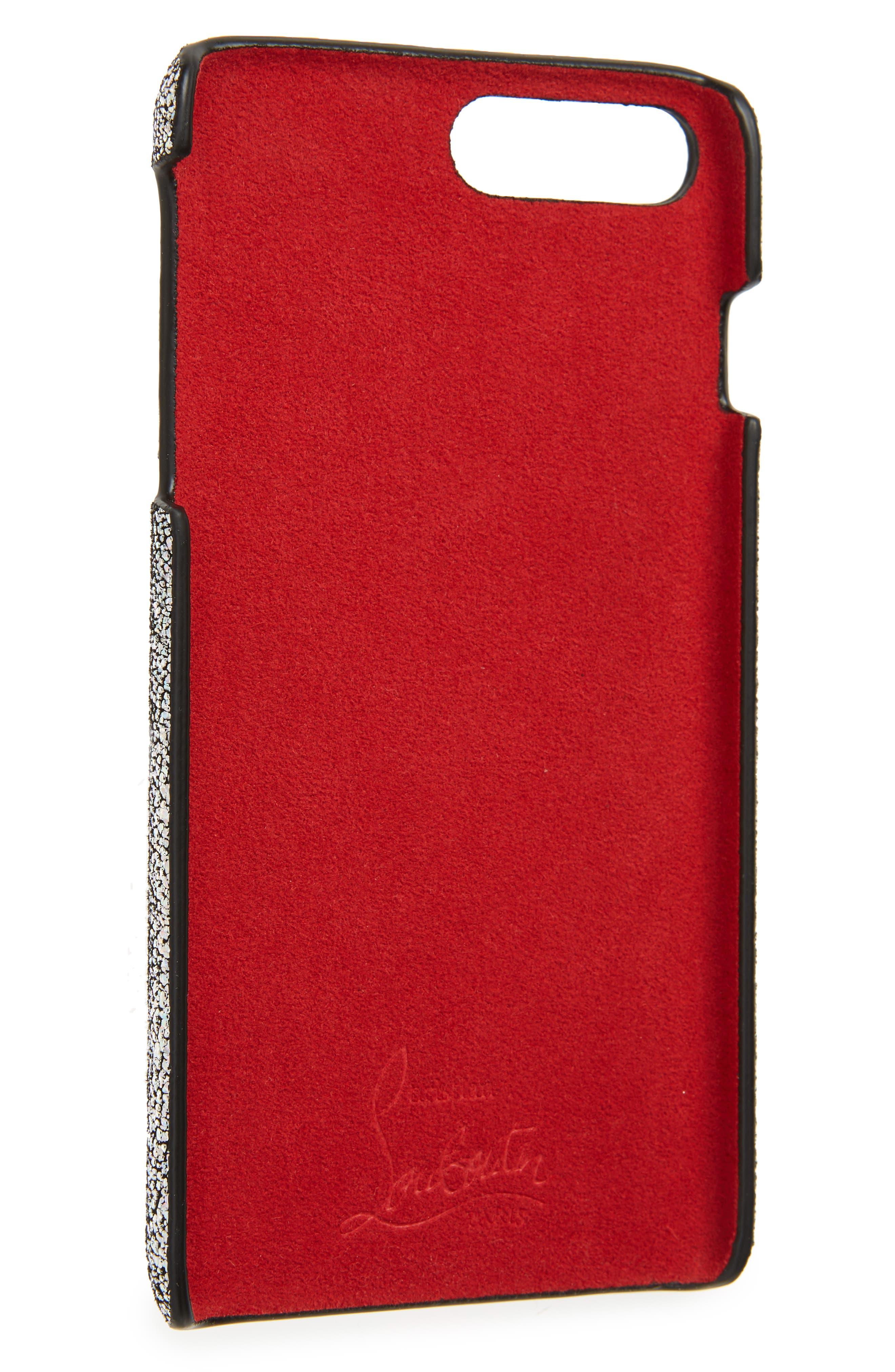 CHRISTIAN LOUBOUTIN,                             Loubiphone iPhone 7/8 Case,                             Alternate thumbnail 2, color,                             SILVER AB/ SILVER