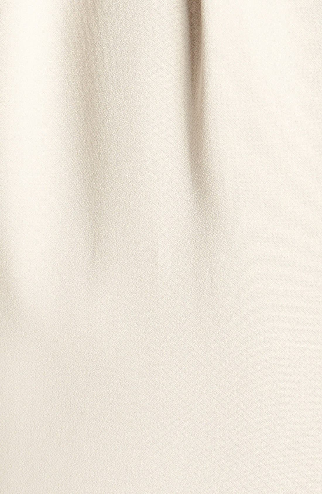 Beaded Halter Neck Crepe Gown,                             Alternate thumbnail 8, color,
