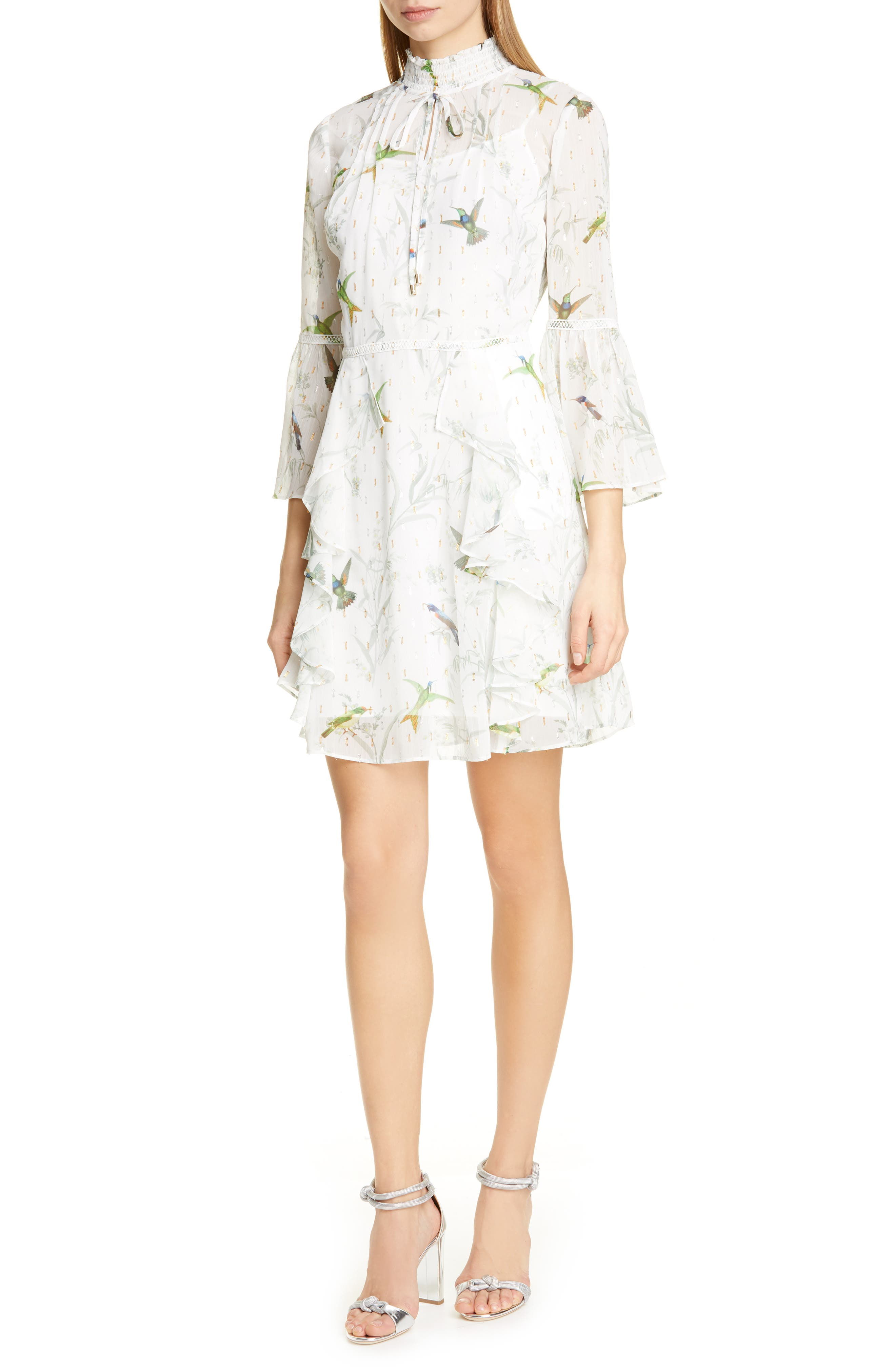 Ted Baker London Andray Fortune Tiered Ruffle Dress, Green