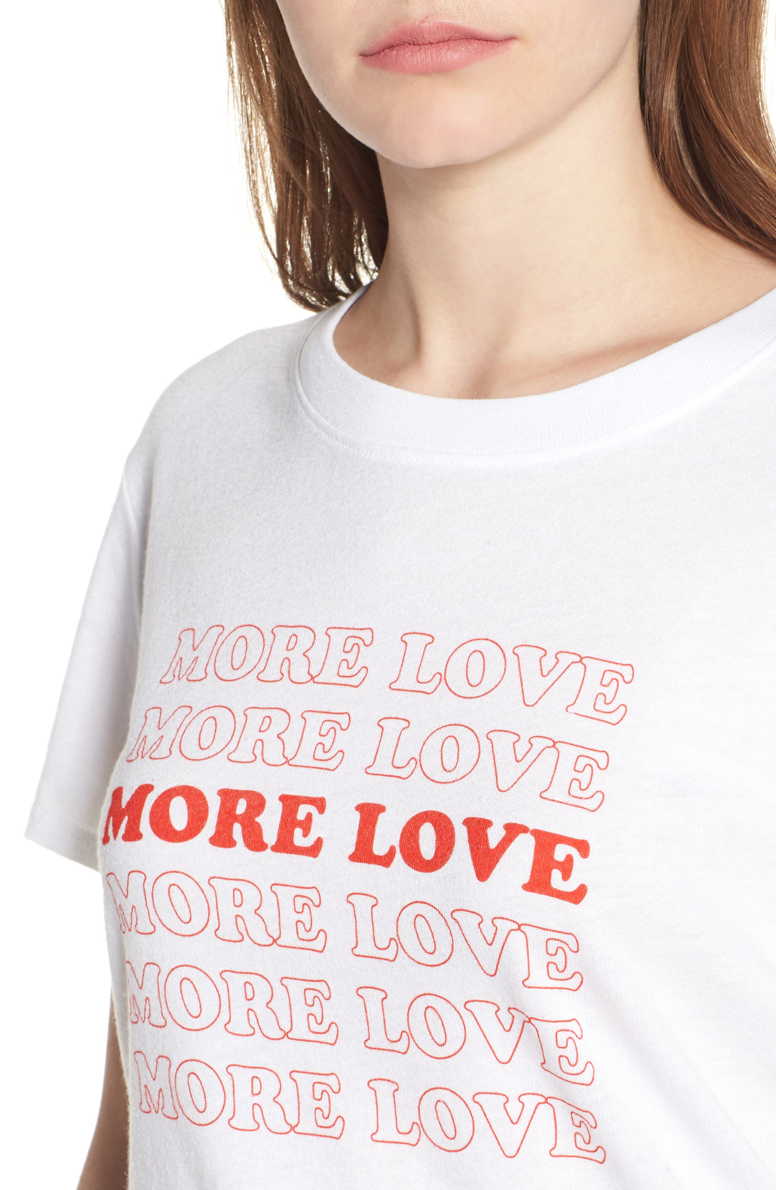 More Love Slouched Tee,                             Alternate thumbnail 4, color,                             100
