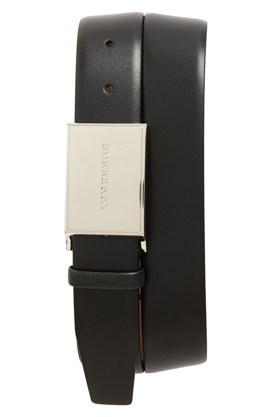 'Charles' Leather Belt,                             Main thumbnail 1, color,                             001