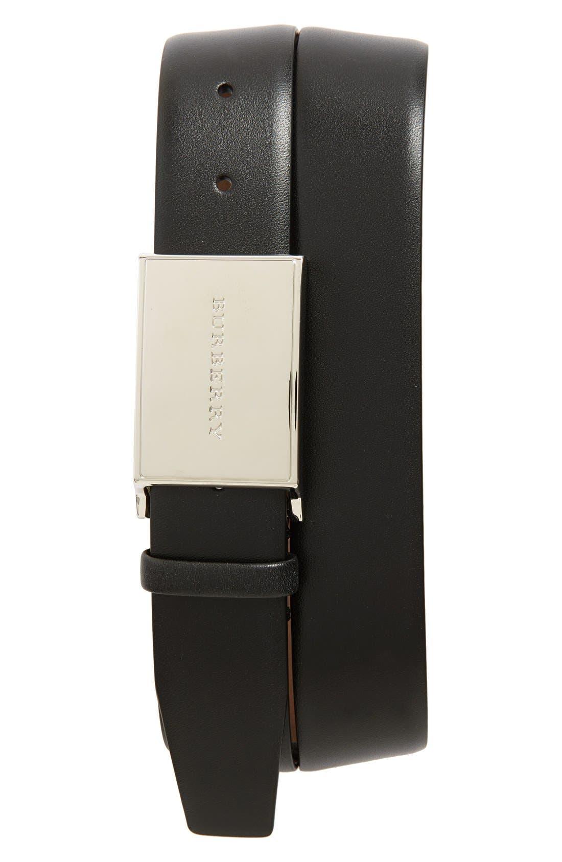 'Charles' Leather Belt, Main, color, 001