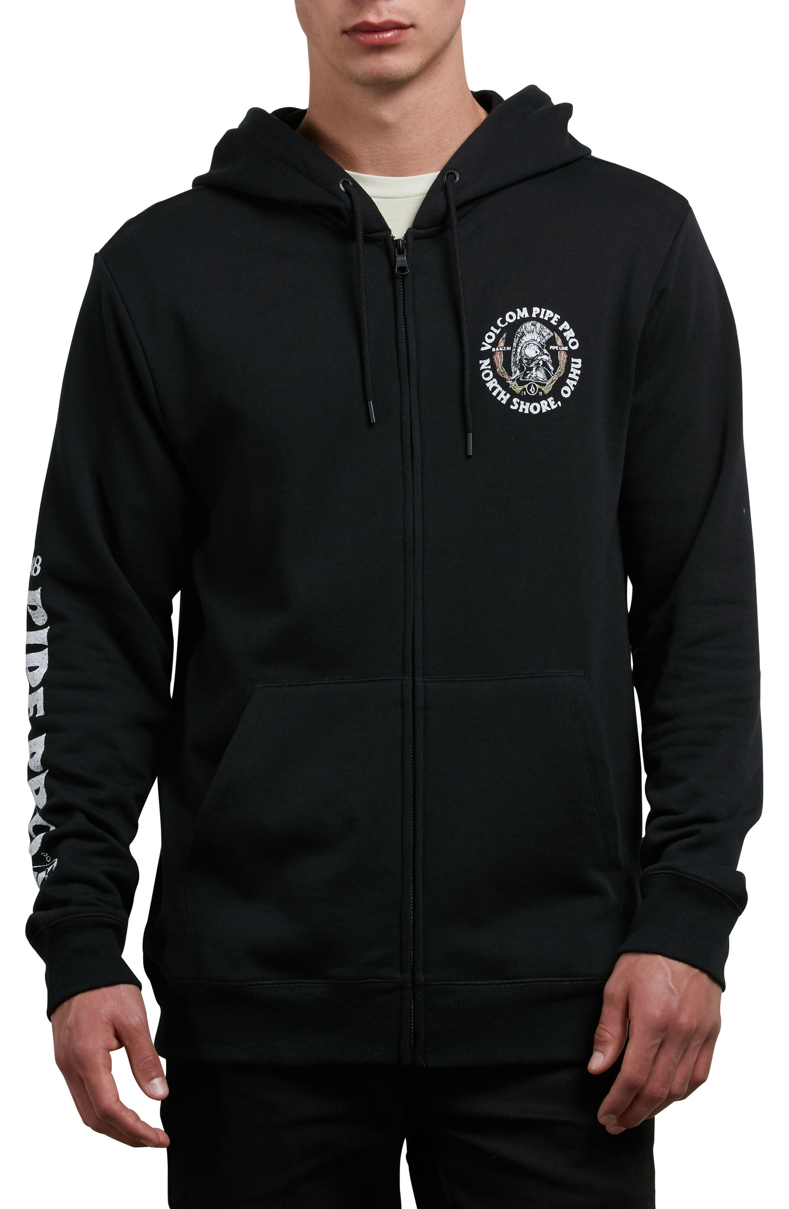 Pipe Pro Seal Graphic Zip Hoodie,                             Main thumbnail 1, color,                             001