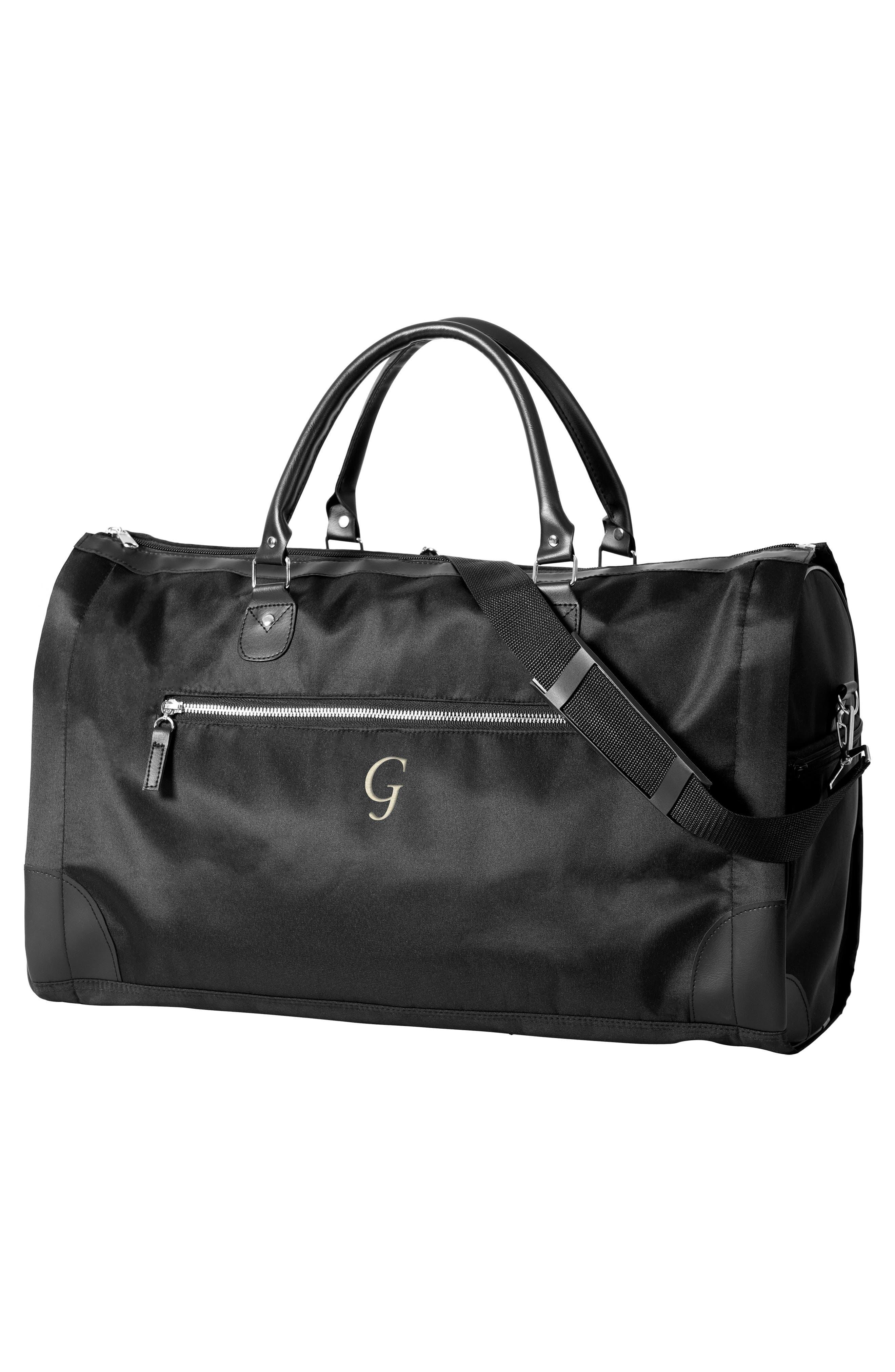 Monogram Duffel/Garment Bag,                             Alternate thumbnail 10, color,                             BLACK