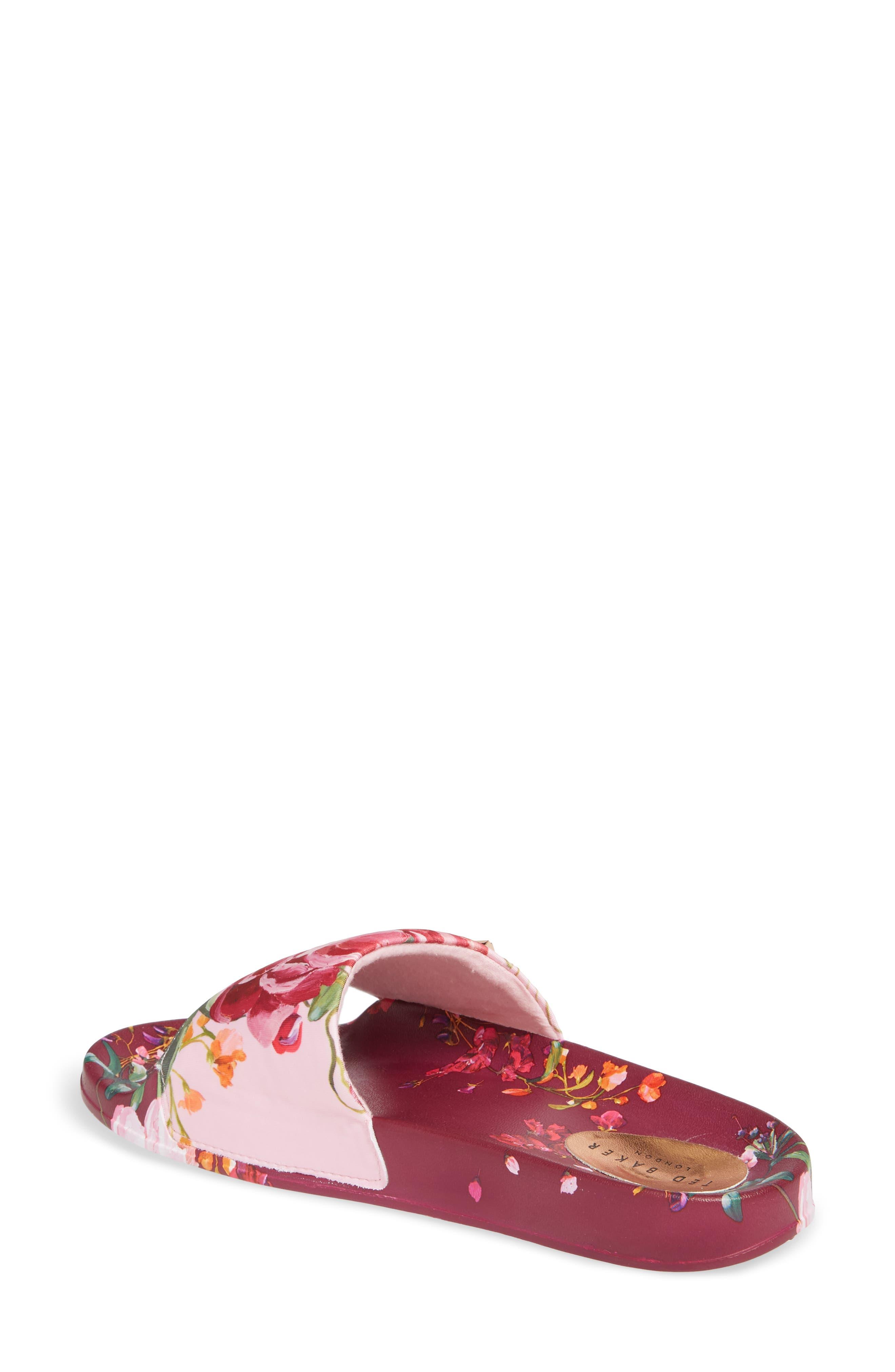 Qarla Slide Sandal,                             Alternate thumbnail 2, color,                             SERENITY LEATHER