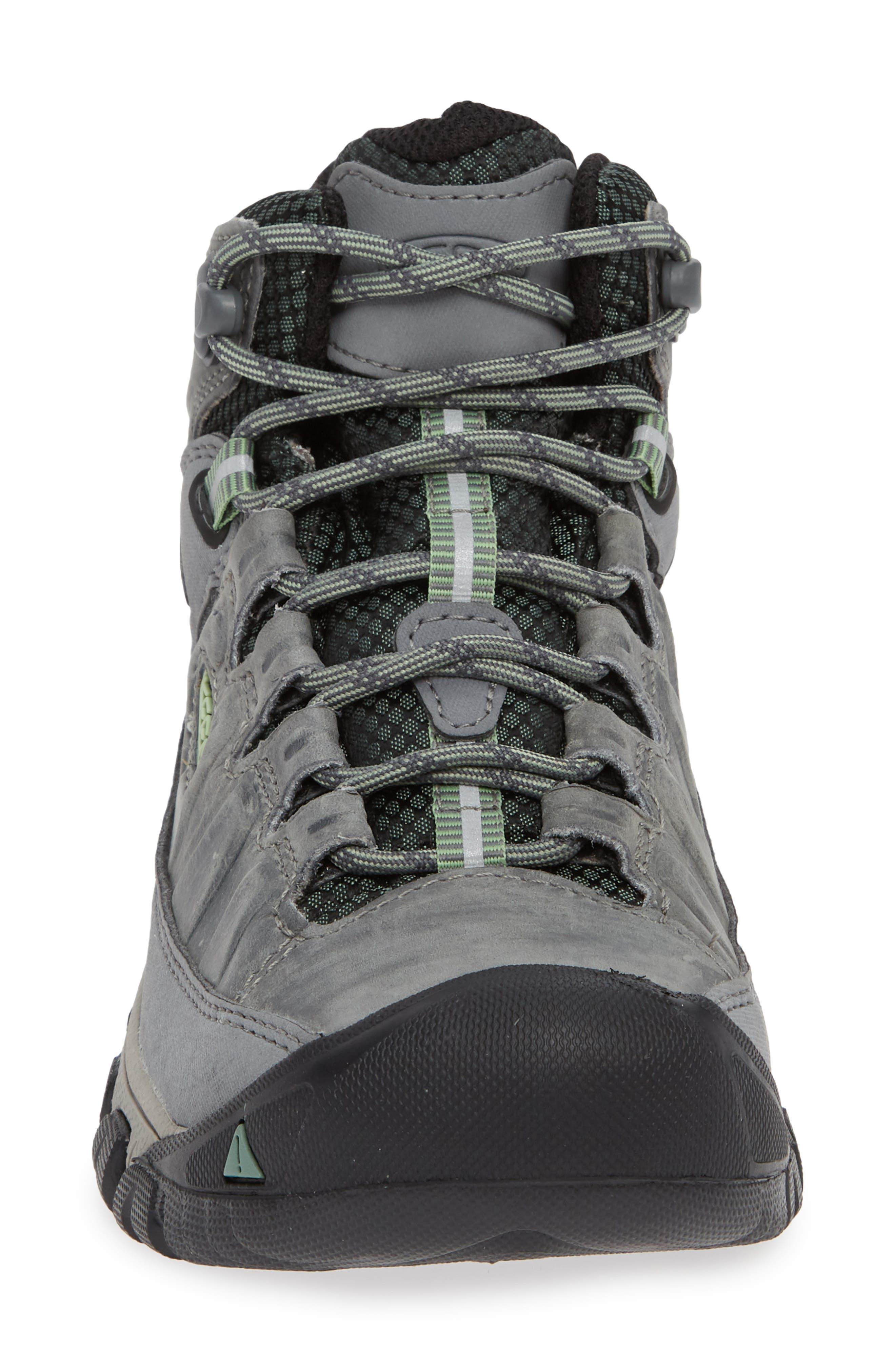 Targhee III Mid Waterproof Hiking Boot,                             Alternate thumbnail 4, color,                             BLEACHER/ DUCK GREEN LEATHER