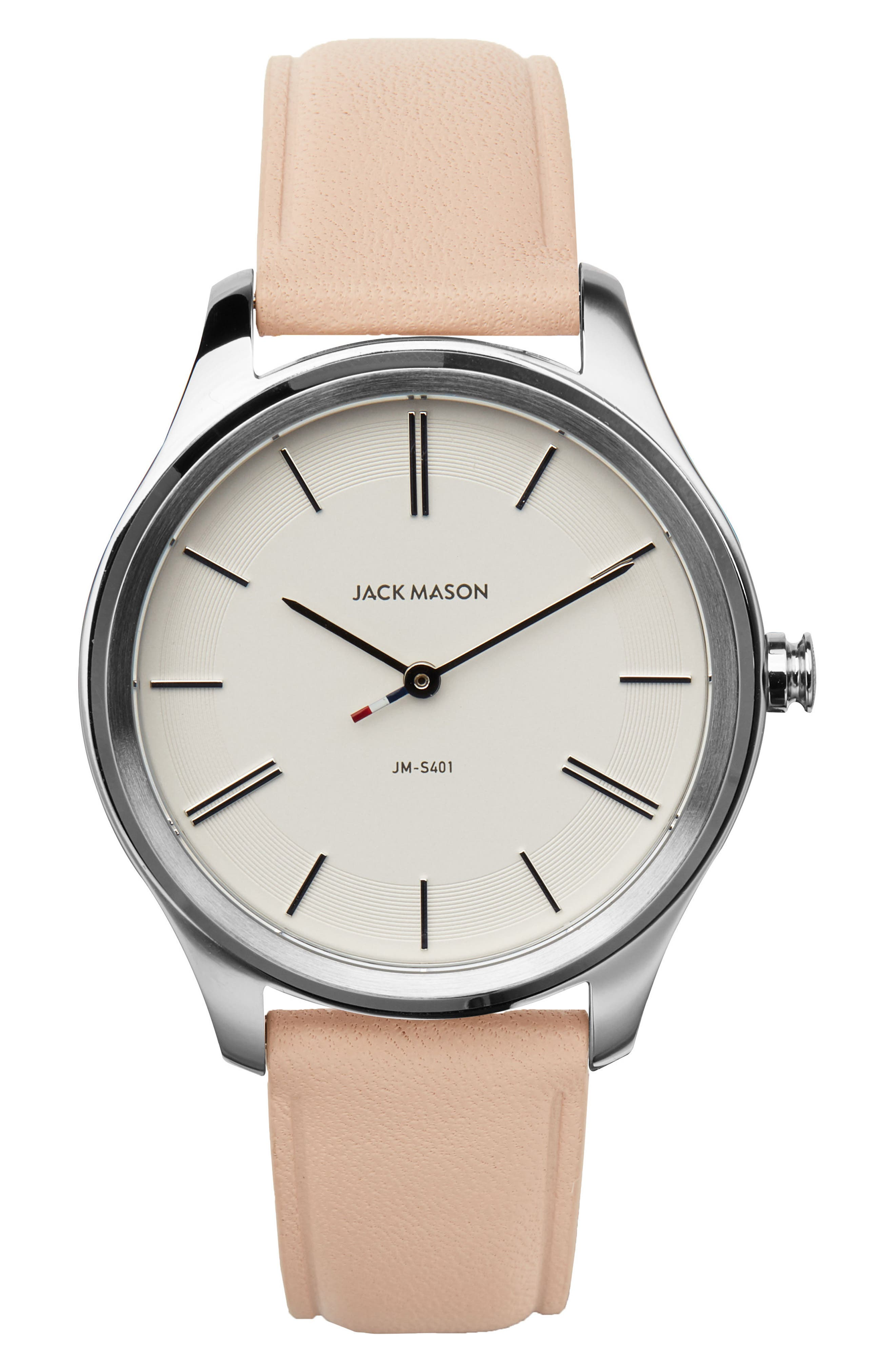 Slim Leather Strap Watch, 38mm,                             Main thumbnail 3, color,