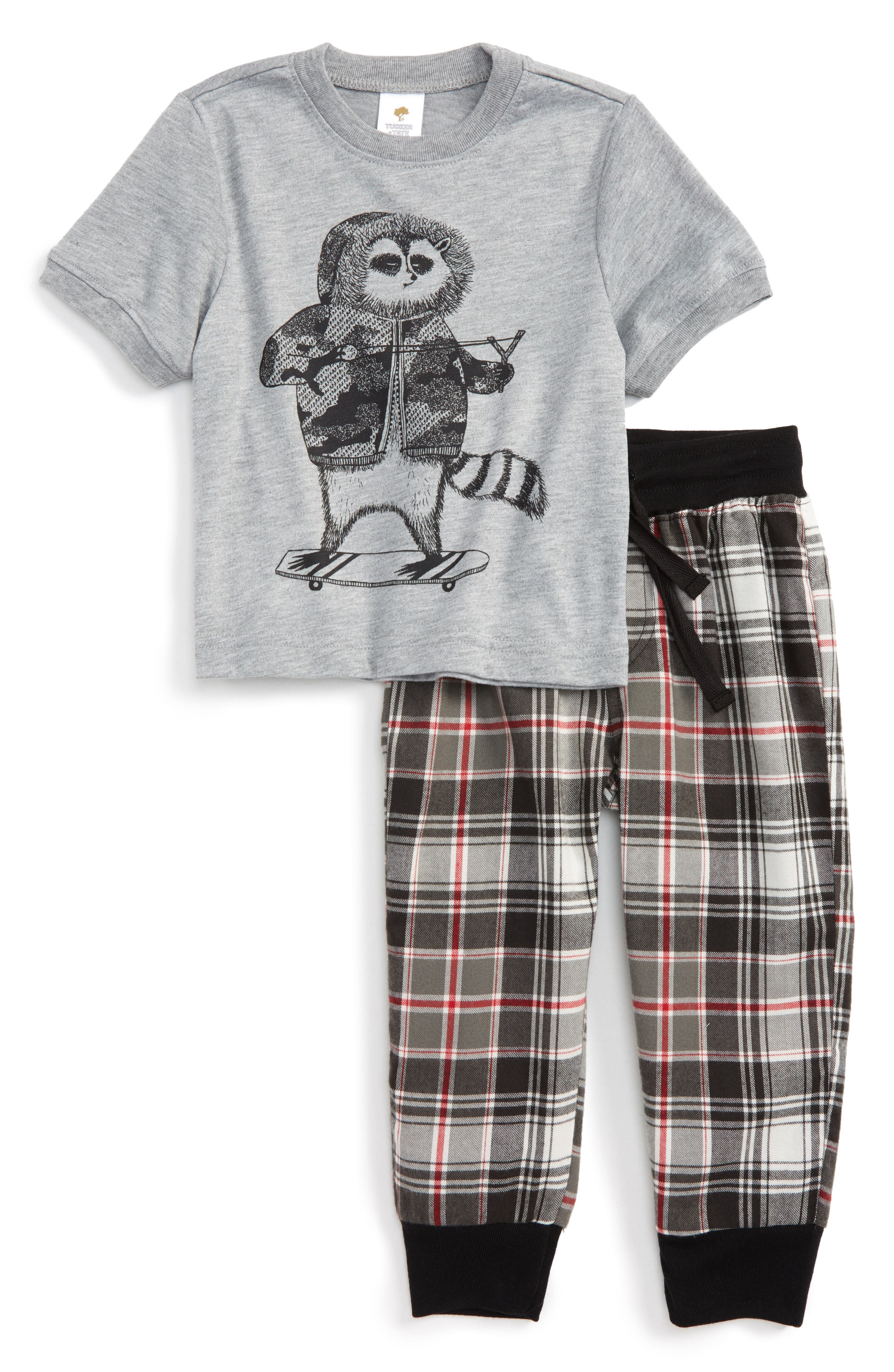 Graphic Two-Piece Pajamas Set,                             Main thumbnail 3, color,