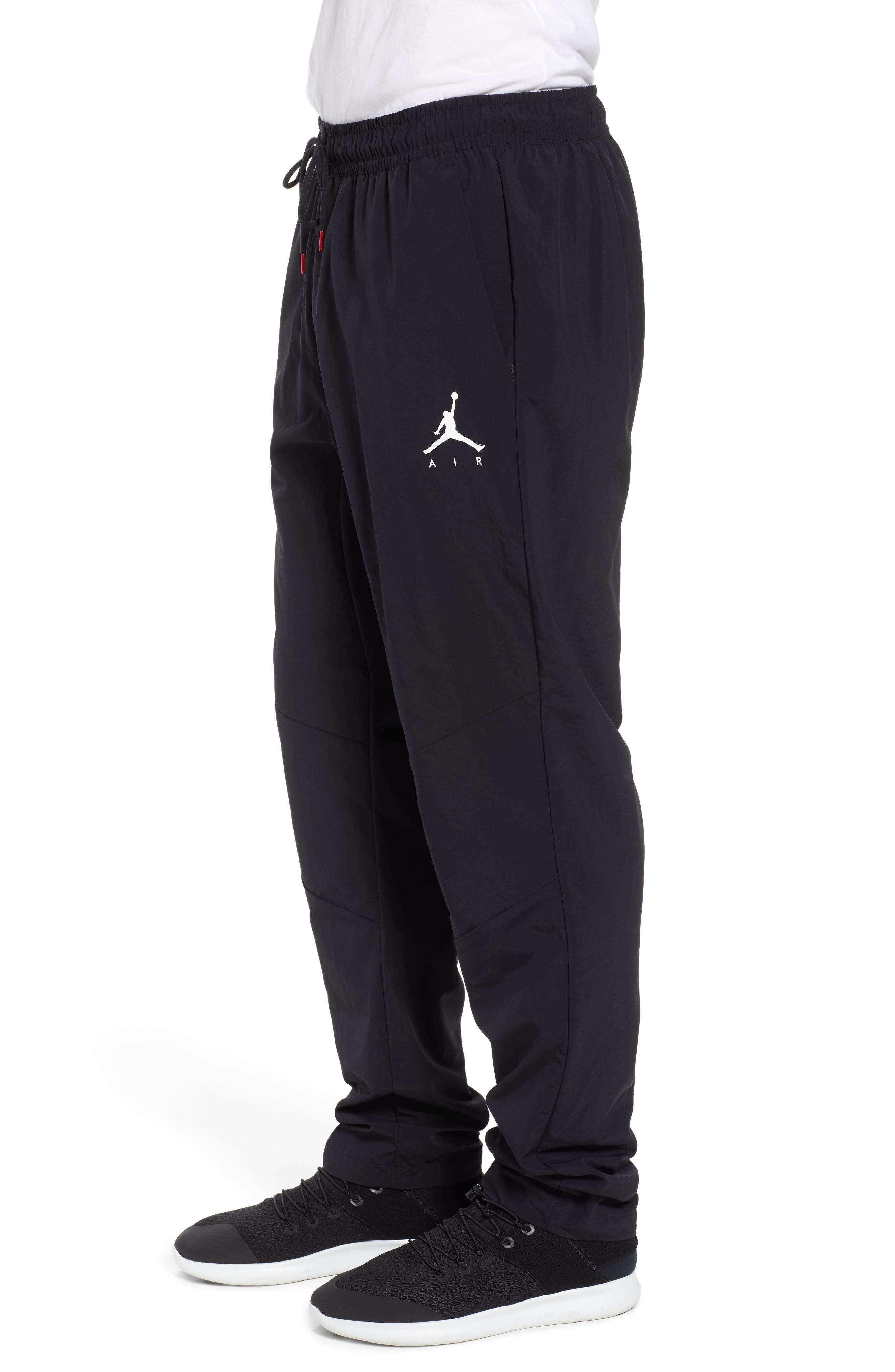 Jordan Jumpman Woven Pants,                             Alternate thumbnail 3, color,                             BLACK/ WHITE