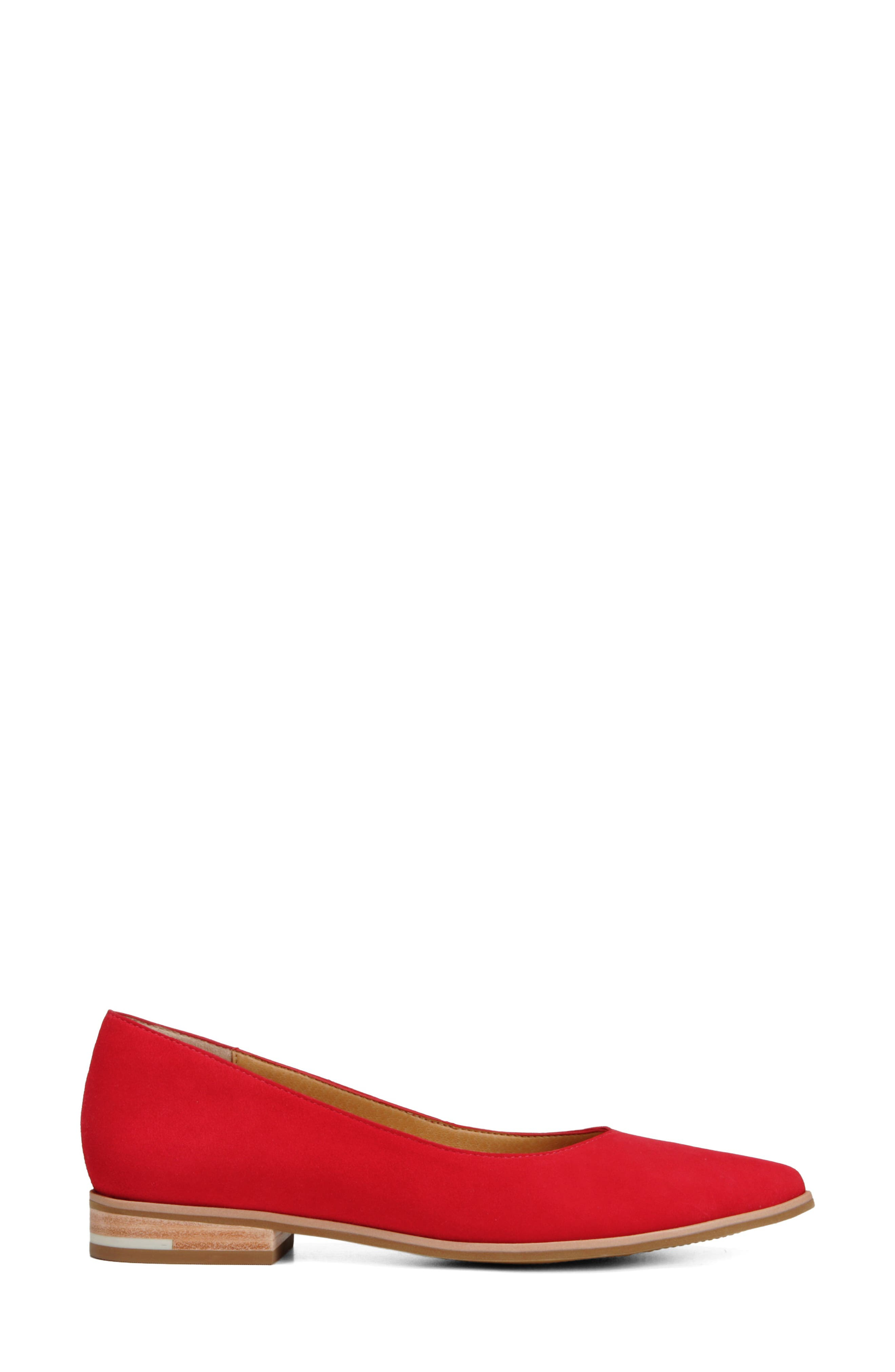 Dr. Scholls Flair Flat,                             Alternate thumbnail 3, color,                             RED LEATHER