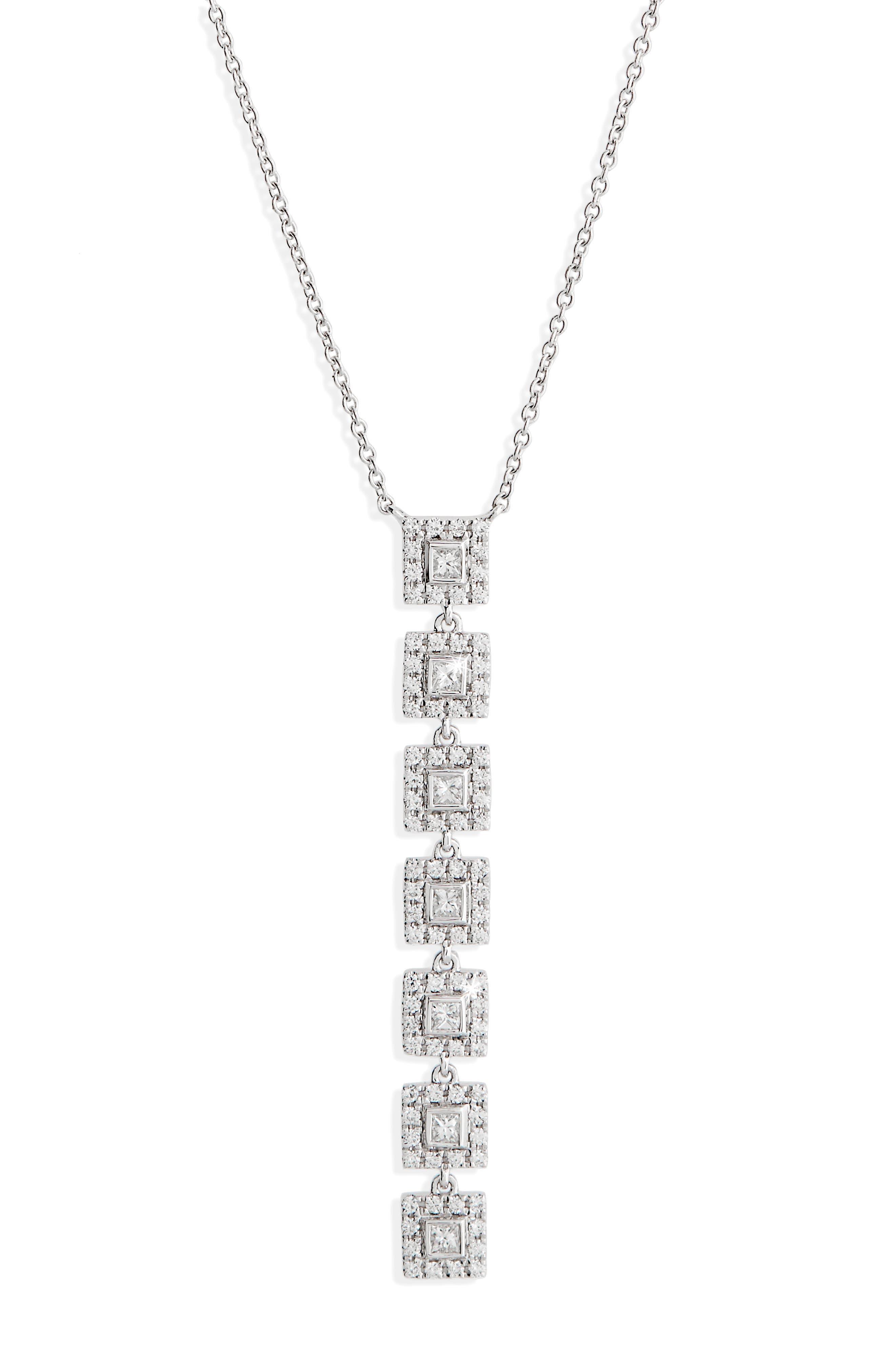 Amara Diamond Pendant Necklace,                             Main thumbnail 1, color,                             WHITE GOLD