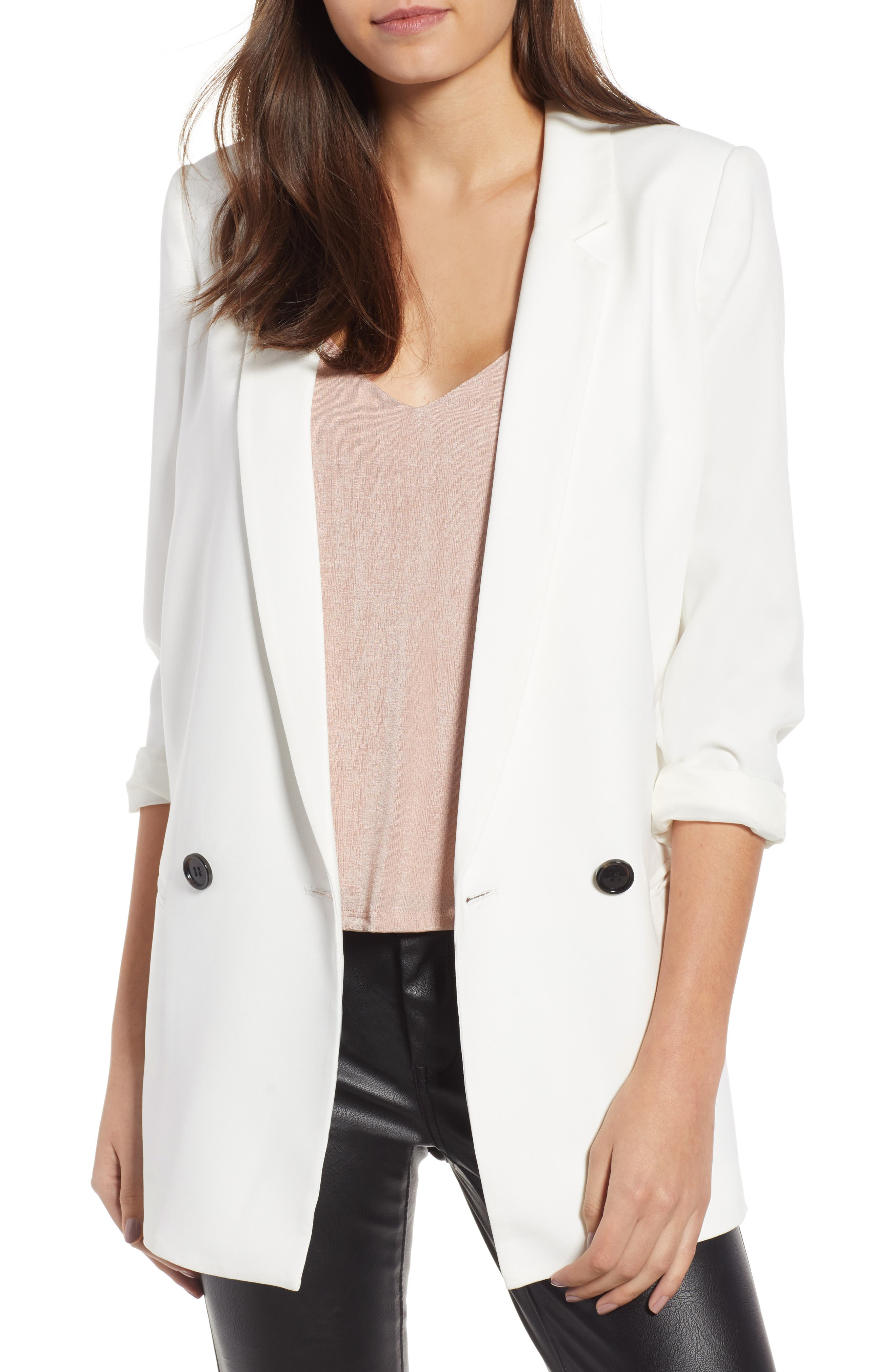 Oversize Blazer,                         Main,                         color, WHITE
