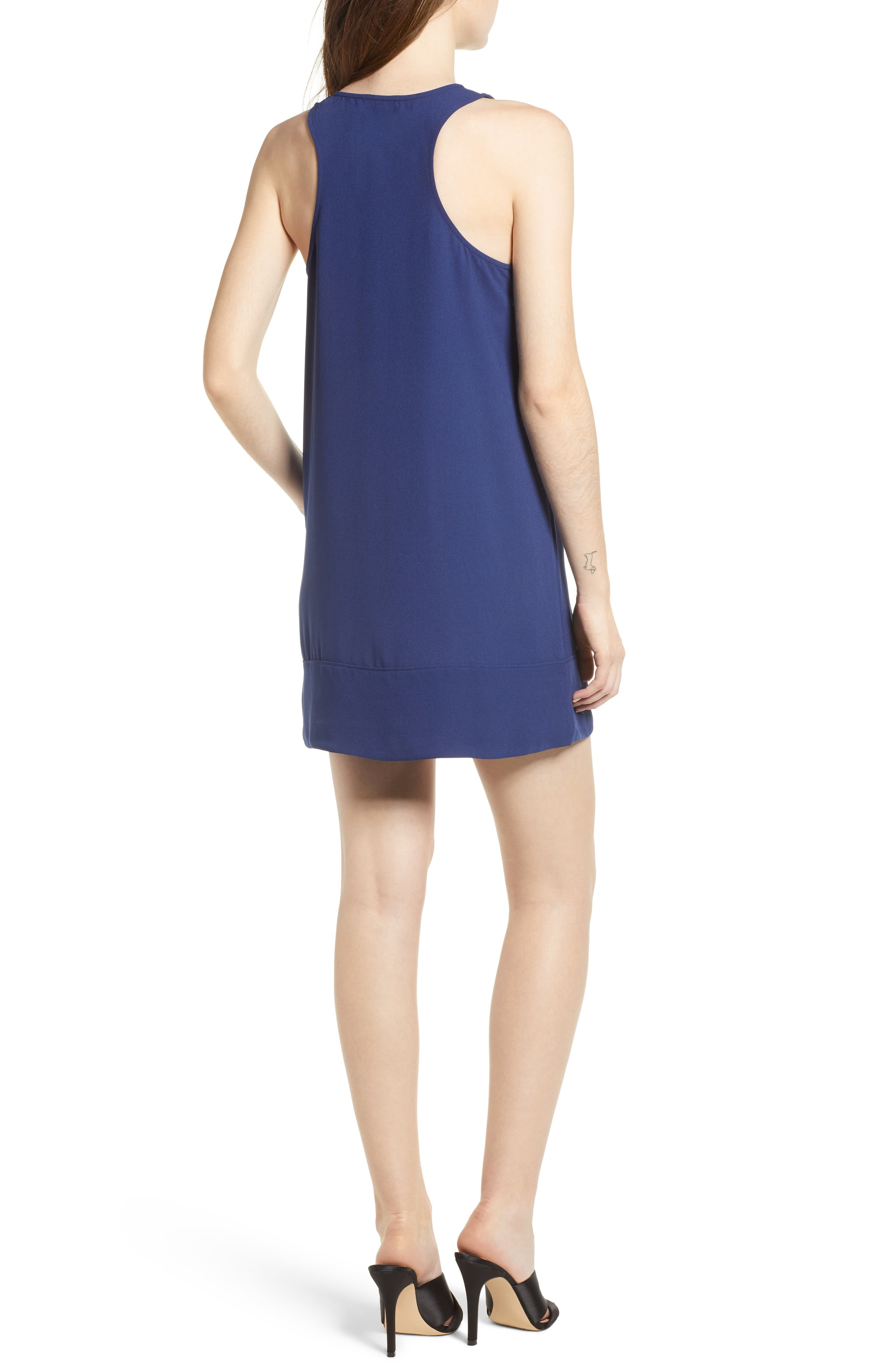 Racerback Shift Dress,                             Alternate thumbnail 90, color,