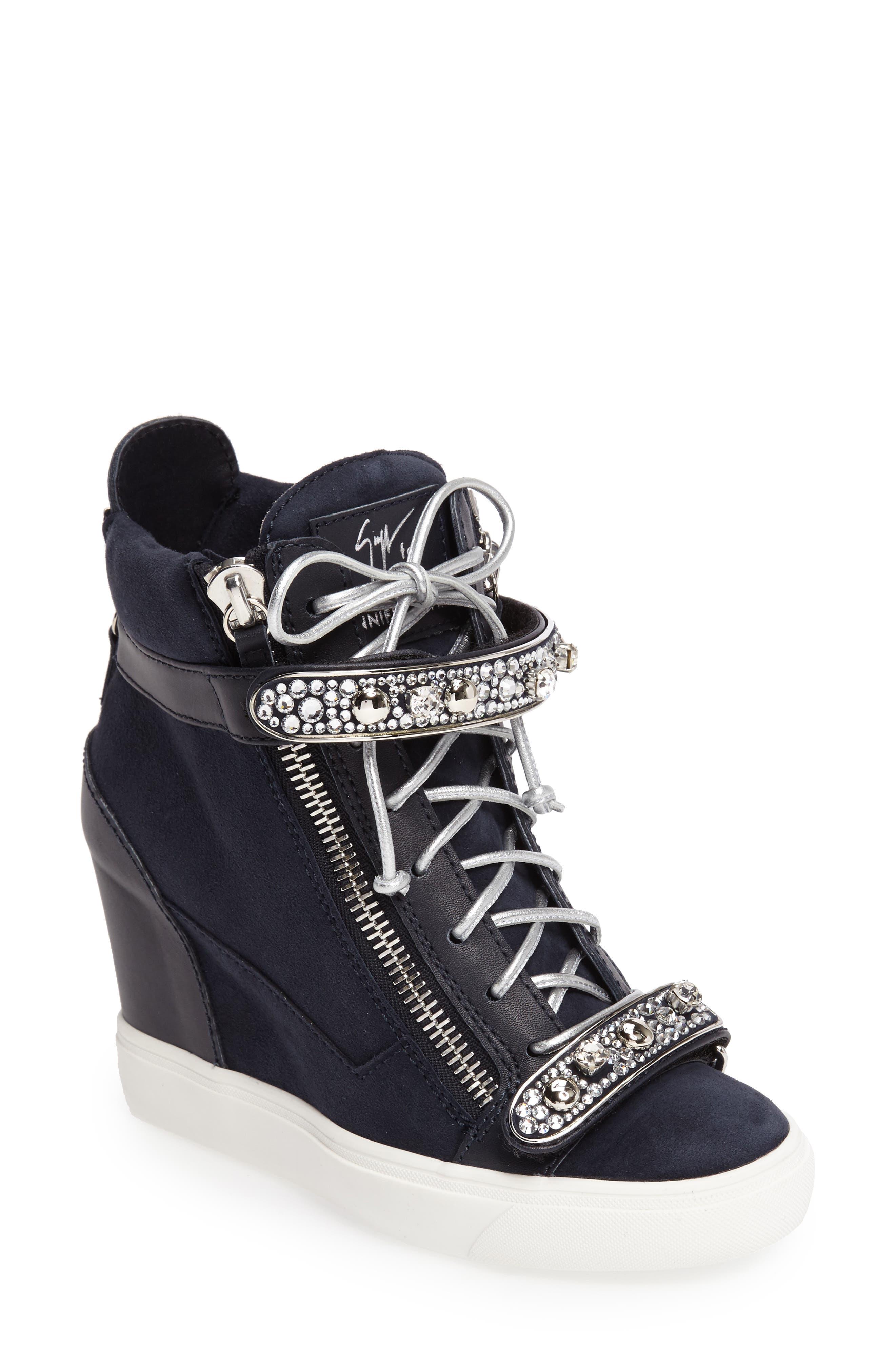 Giuseppe for Jennifer Lopez Tiana Hidden Wedge Sneaker,                             Main thumbnail 2, color,