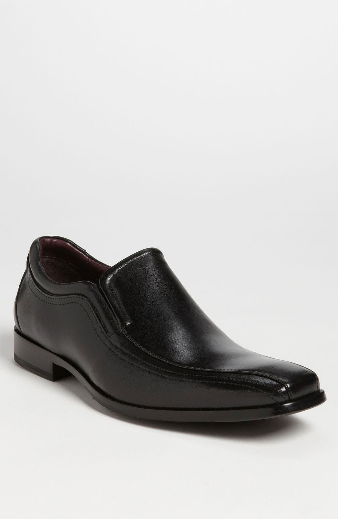 'Shaler' Venetian Loafer,                         Main,                         color, BLACK