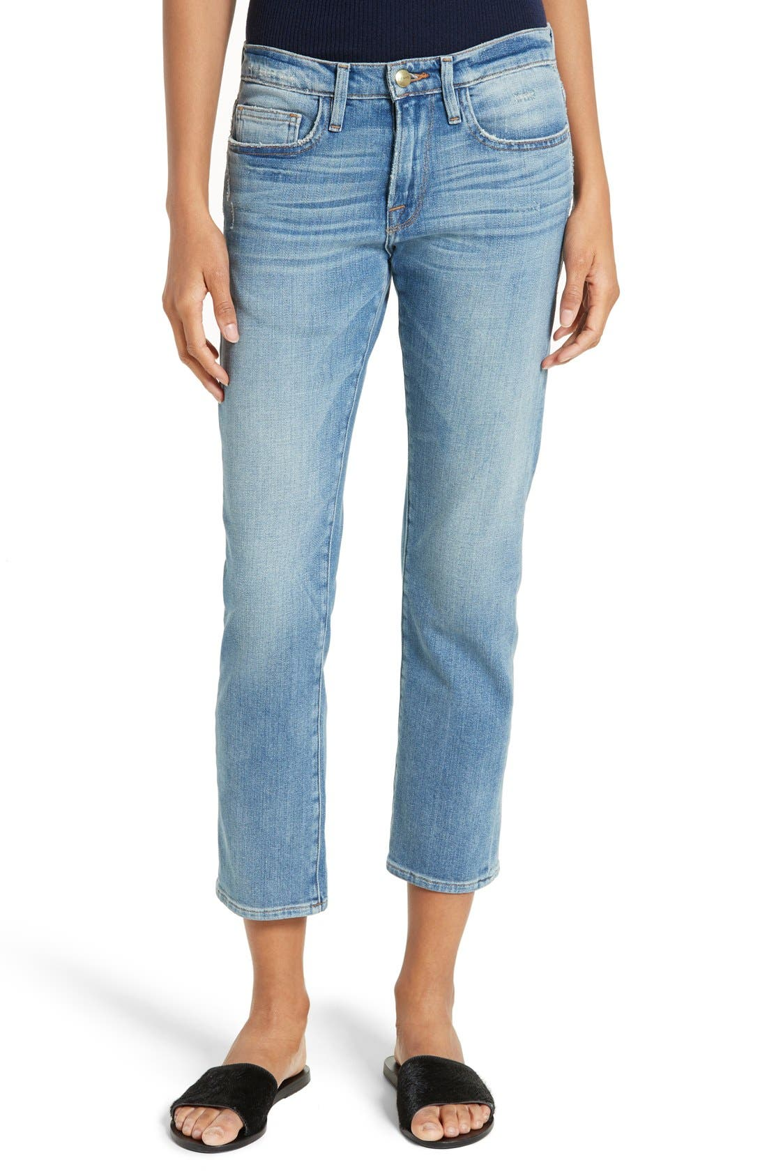 Le Boy Crop Jeans, Main, color, 420