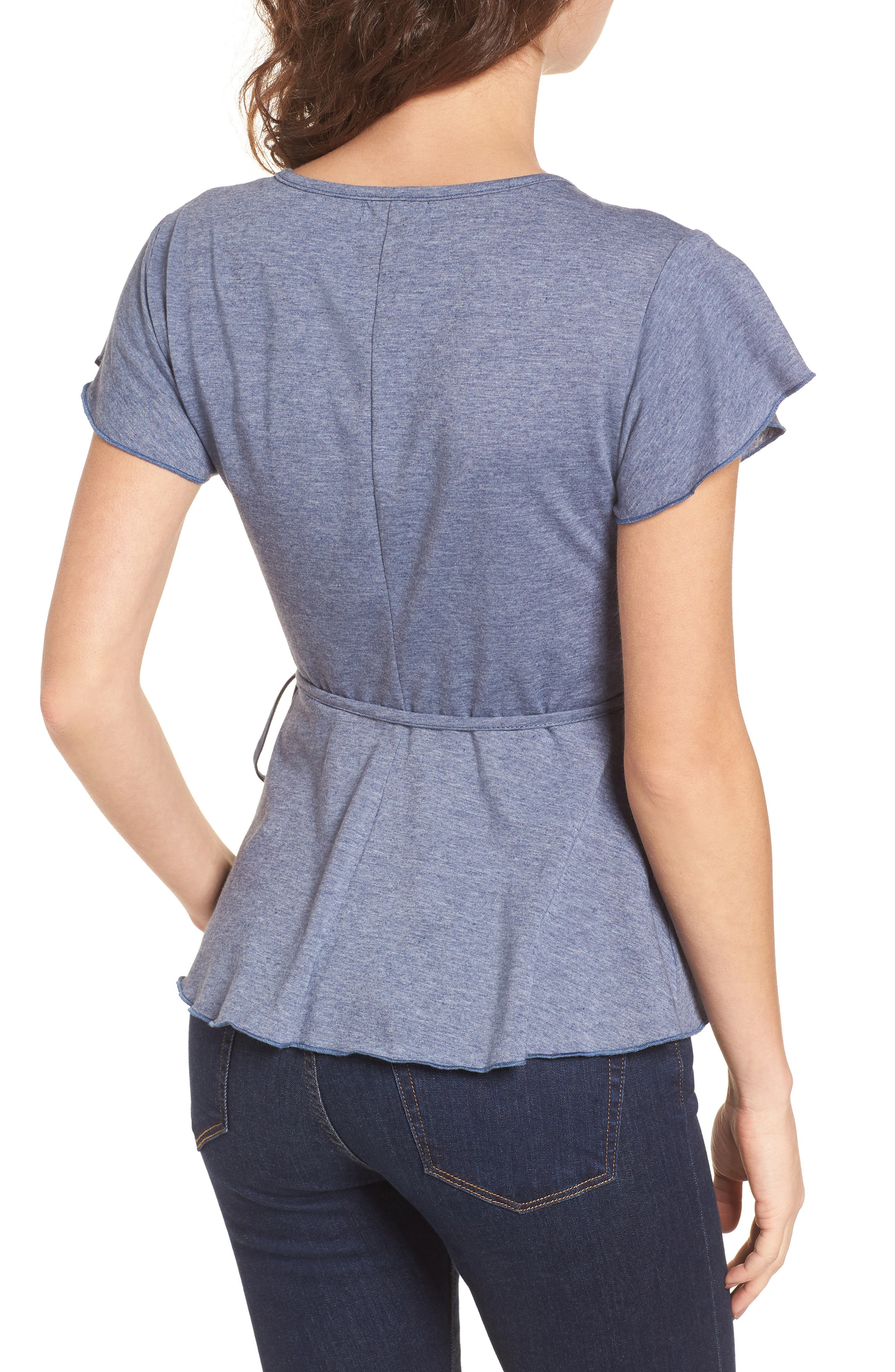 Wrap Peplum Tee,                             Alternate thumbnail 2, color,                             410