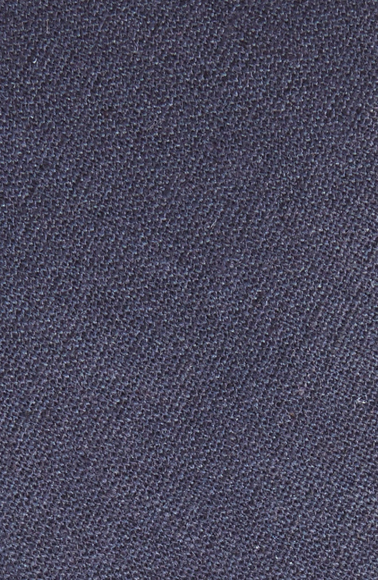 Solid Linen & Cotton Tie,                             Alternate thumbnail 2, color,                             NAVY