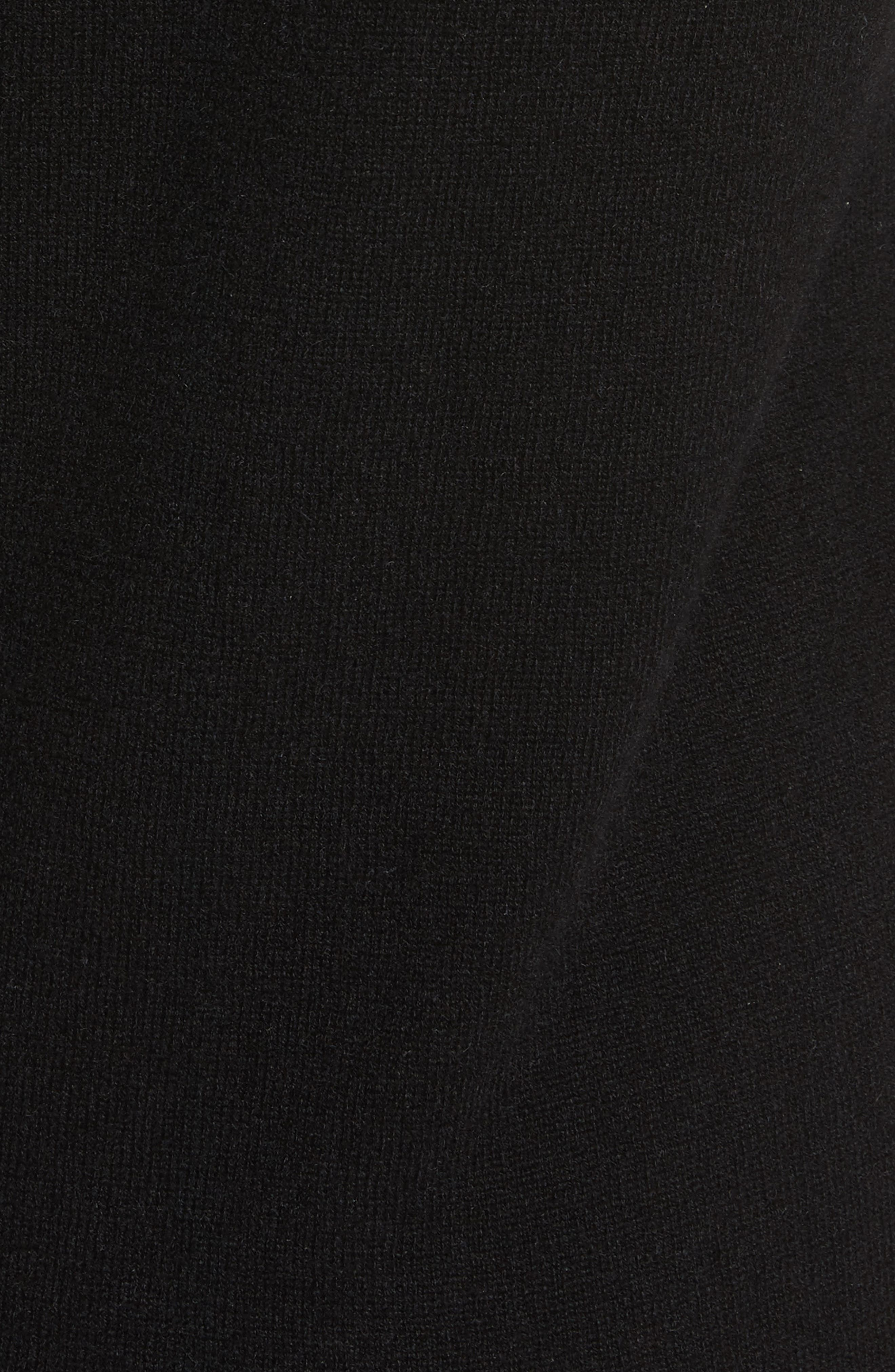 Snyder Cashmere Knit Midi Dress,                             Alternate thumbnail 5, color,                             001