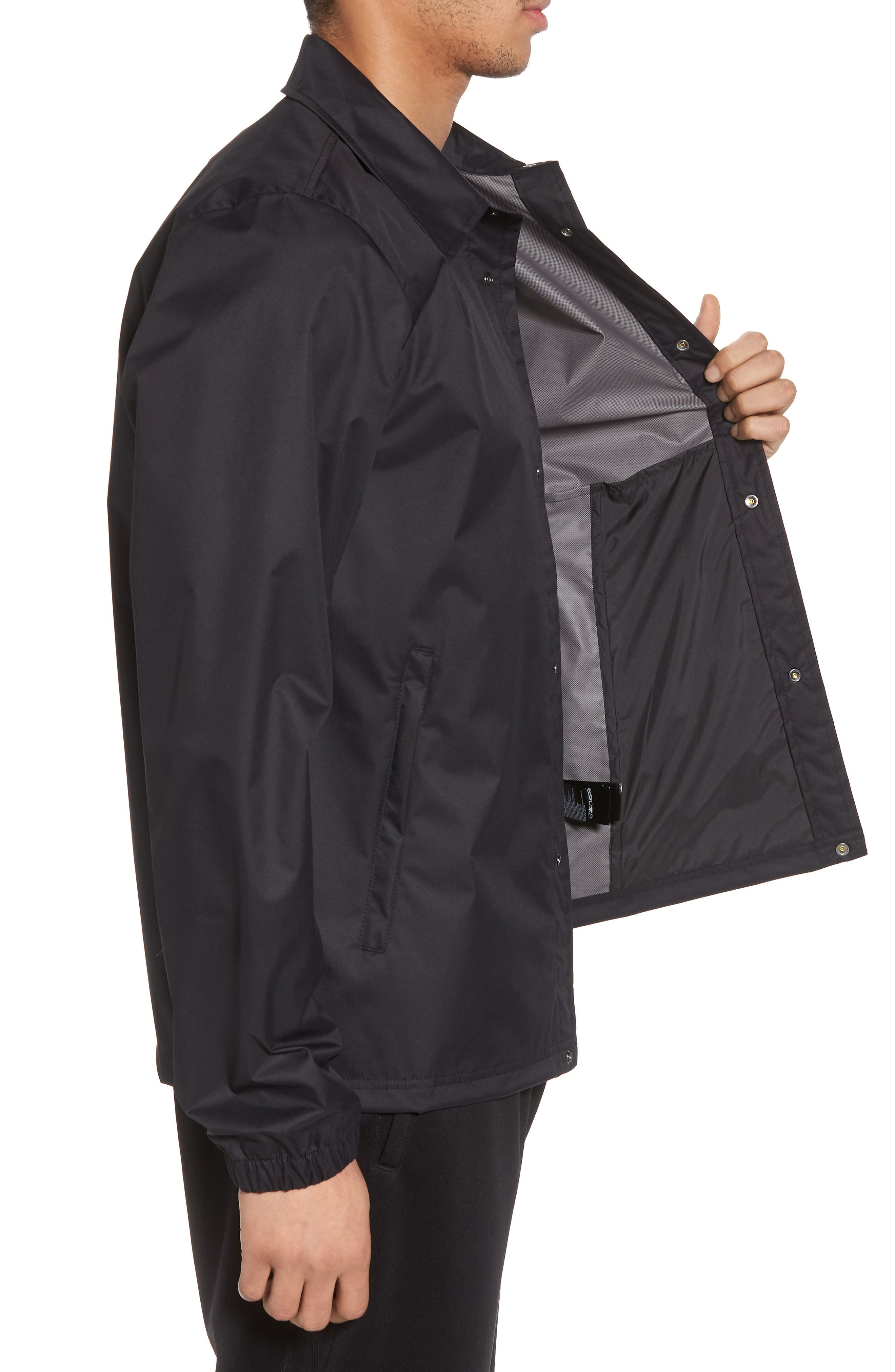 Coaches Rain Jacket,                             Alternate thumbnail 3, color,                             001