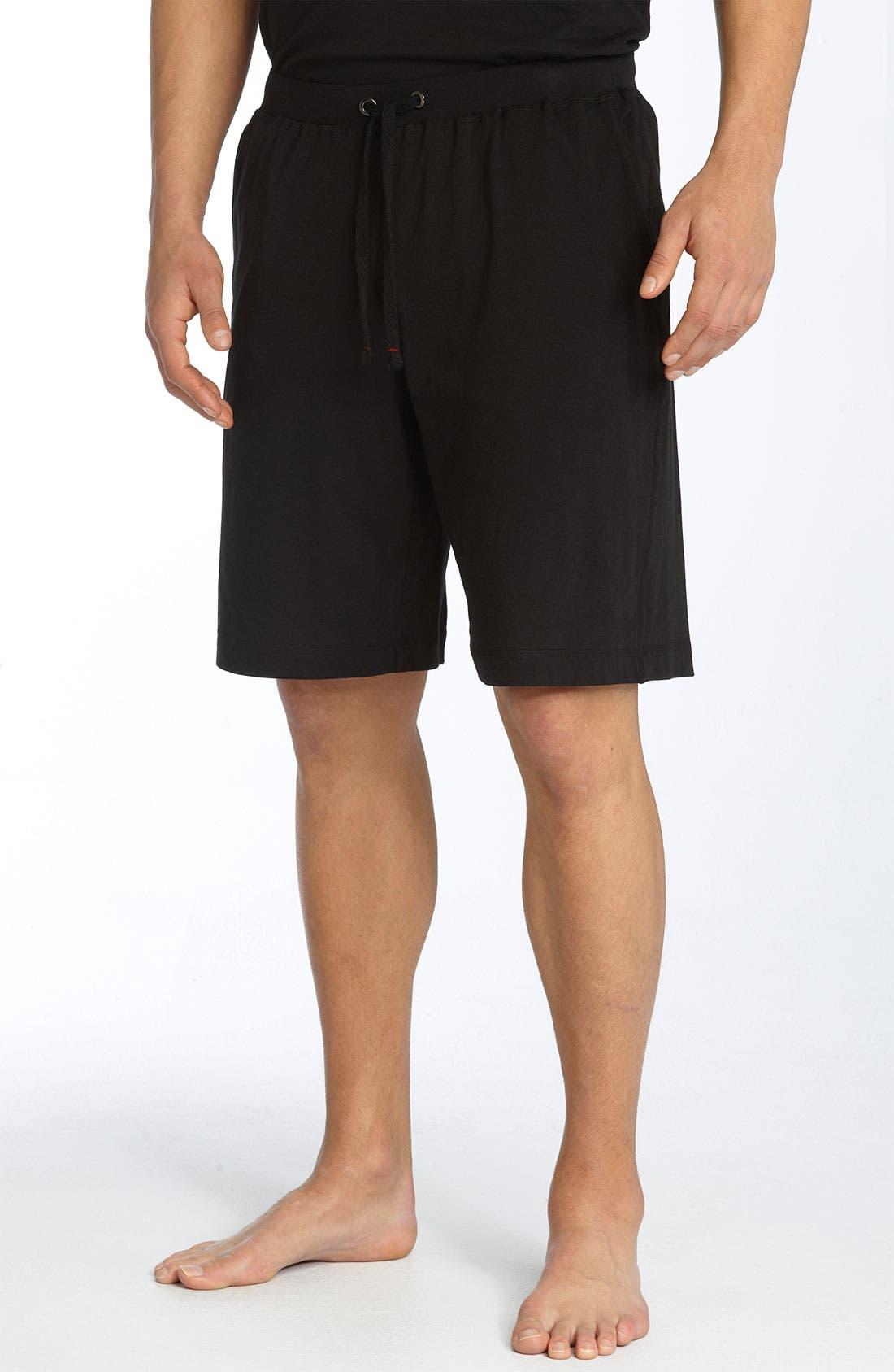 Peruvian Pima Cotton Shorts,                             Main thumbnail 1, color,                             BLACK