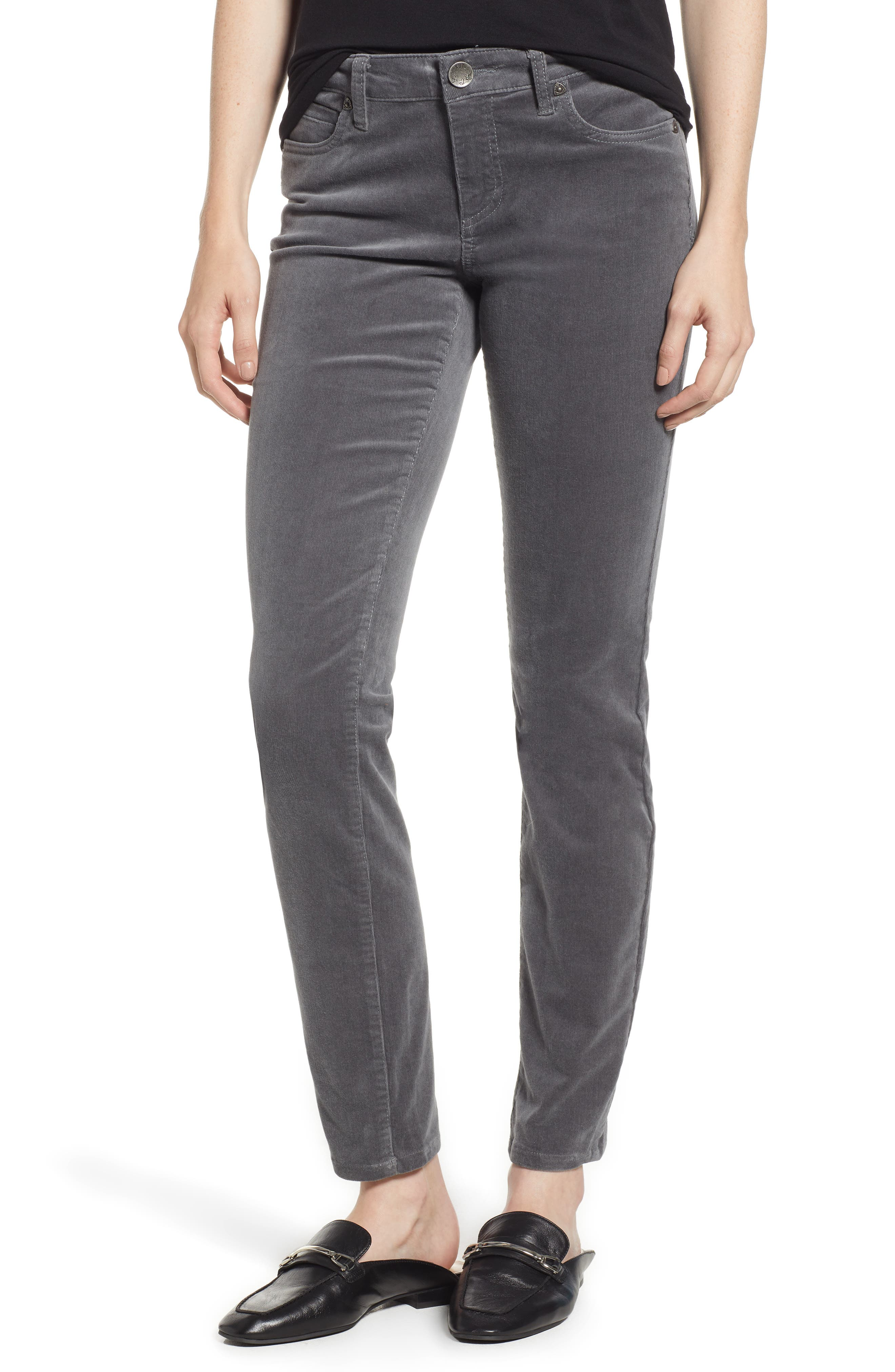 'Diana' Stretch Corduroy Skinny Pants,                             Main thumbnail 4, color,