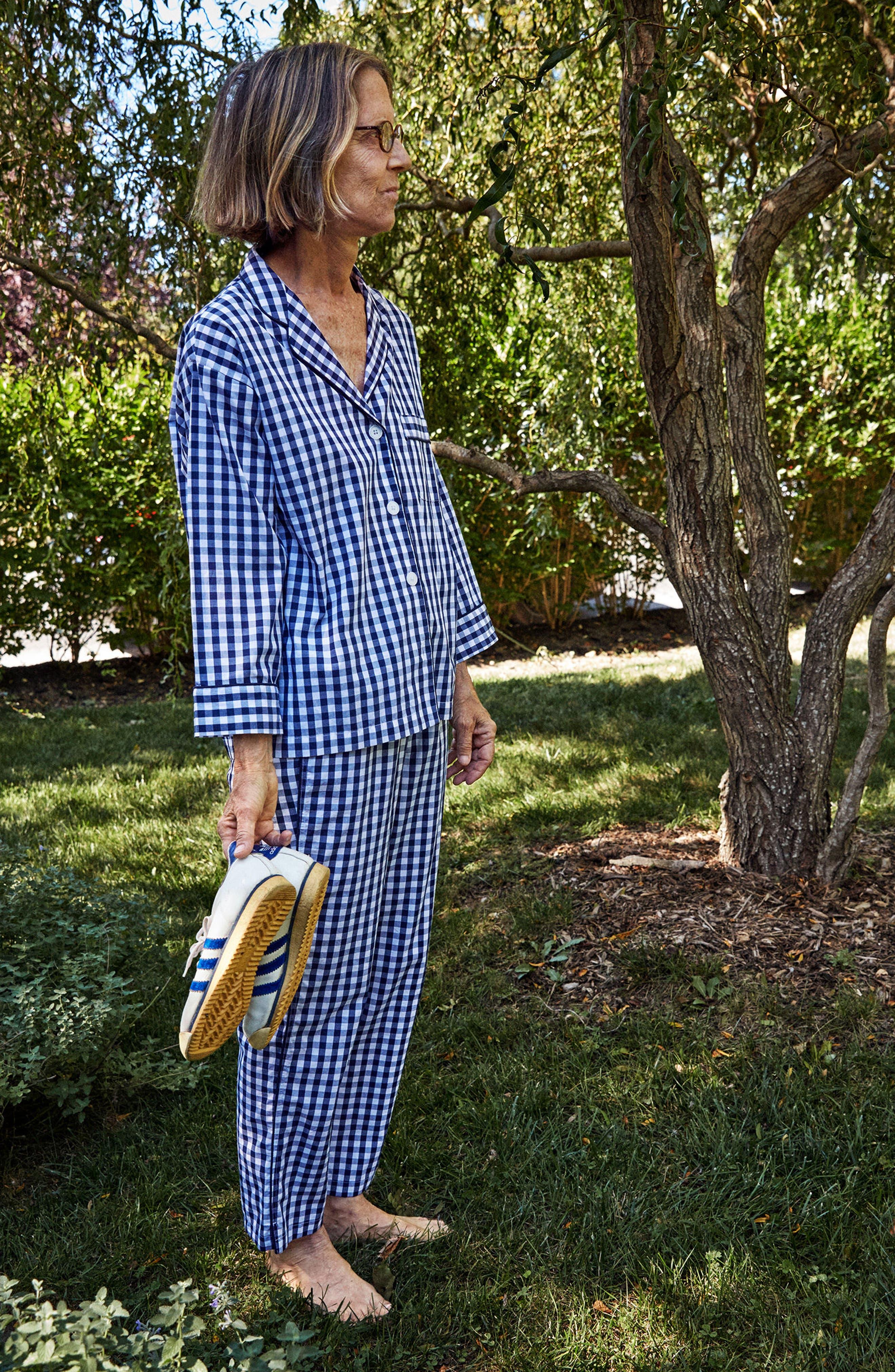 Marina Women's Pajama Pants,                             Alternate thumbnail 9, color,                             LARGE GINGHAM BLUE