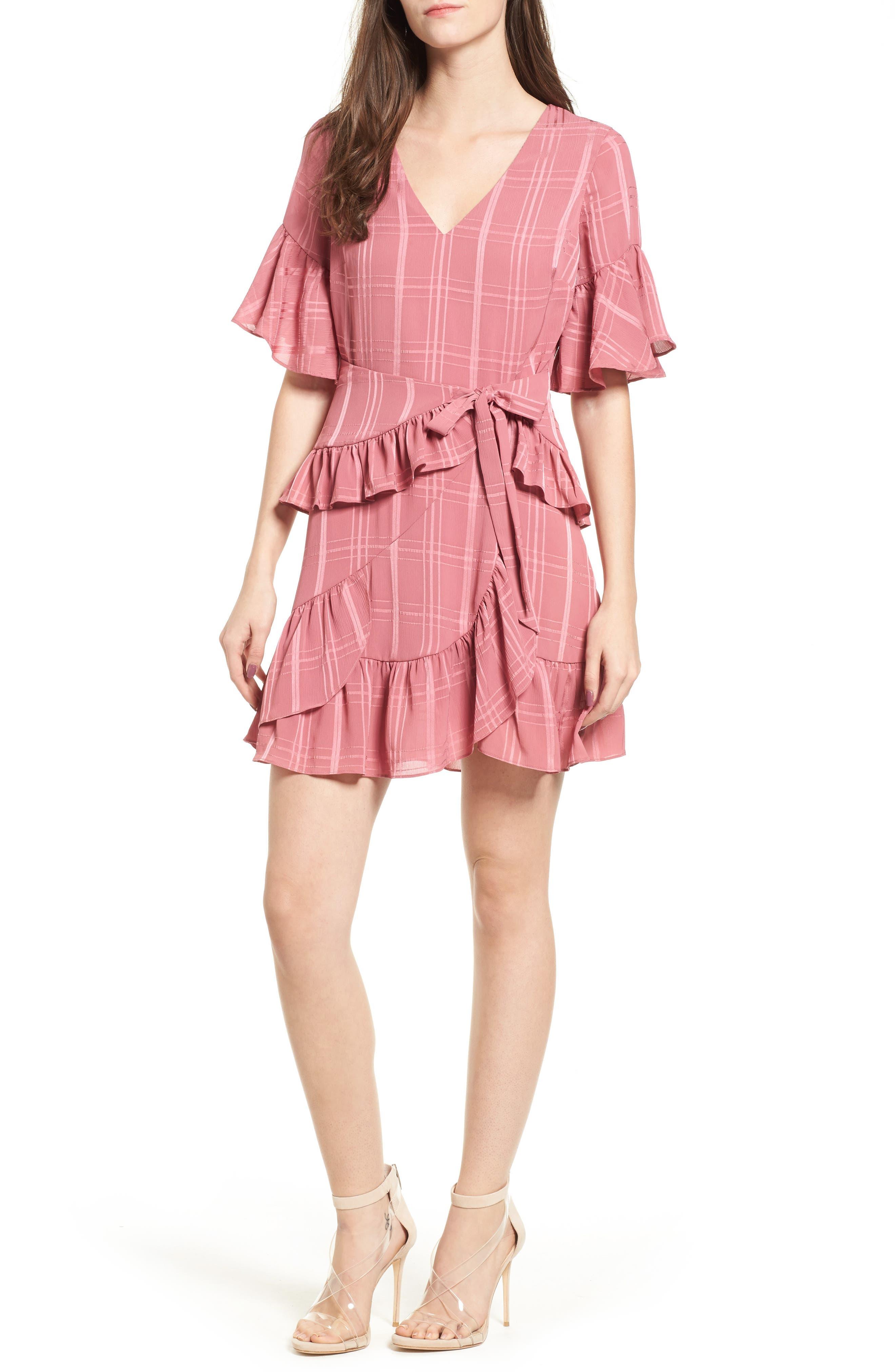Hudson Ruffle Minidress,                         Main,                         color, 683