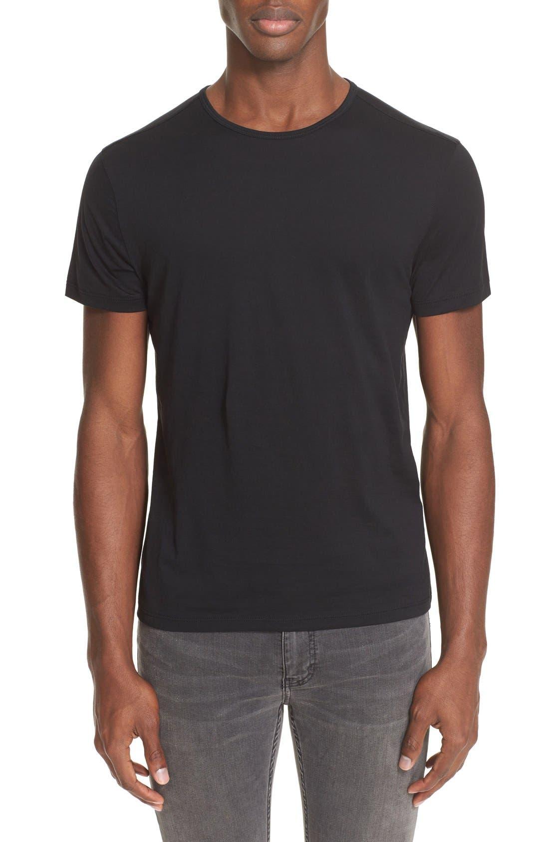 Pima Cotton T-Shirt,                             Main thumbnail 1, color,                             BLACK