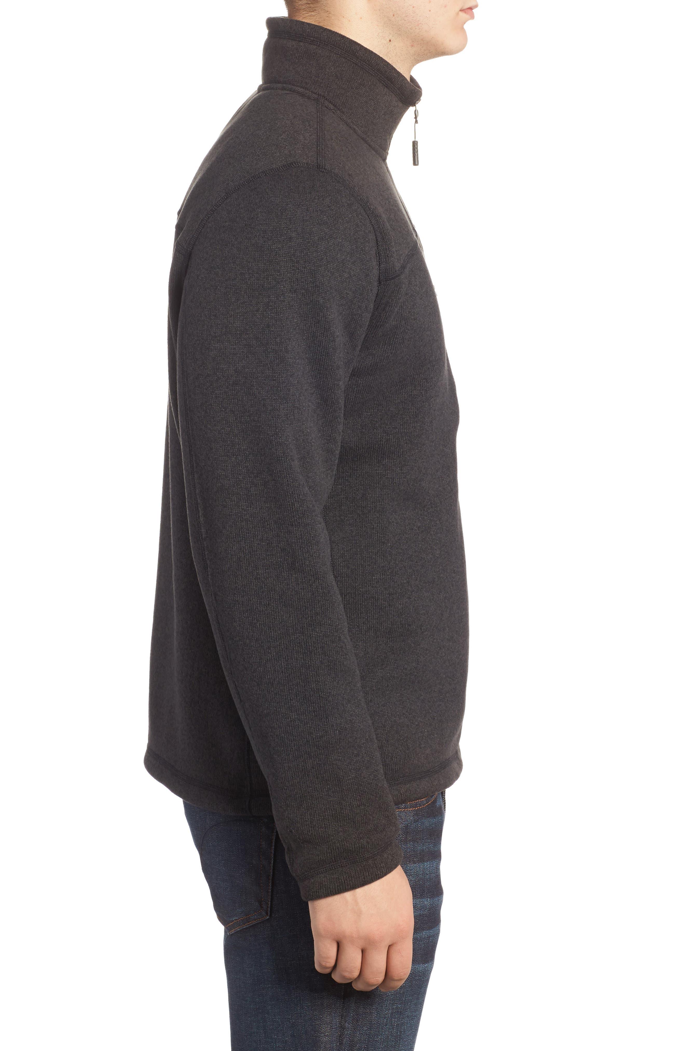Gordon Lyons Quarter-Zip Fleece Jacket,                             Alternate thumbnail 3, color,                             BLACK HEATHER