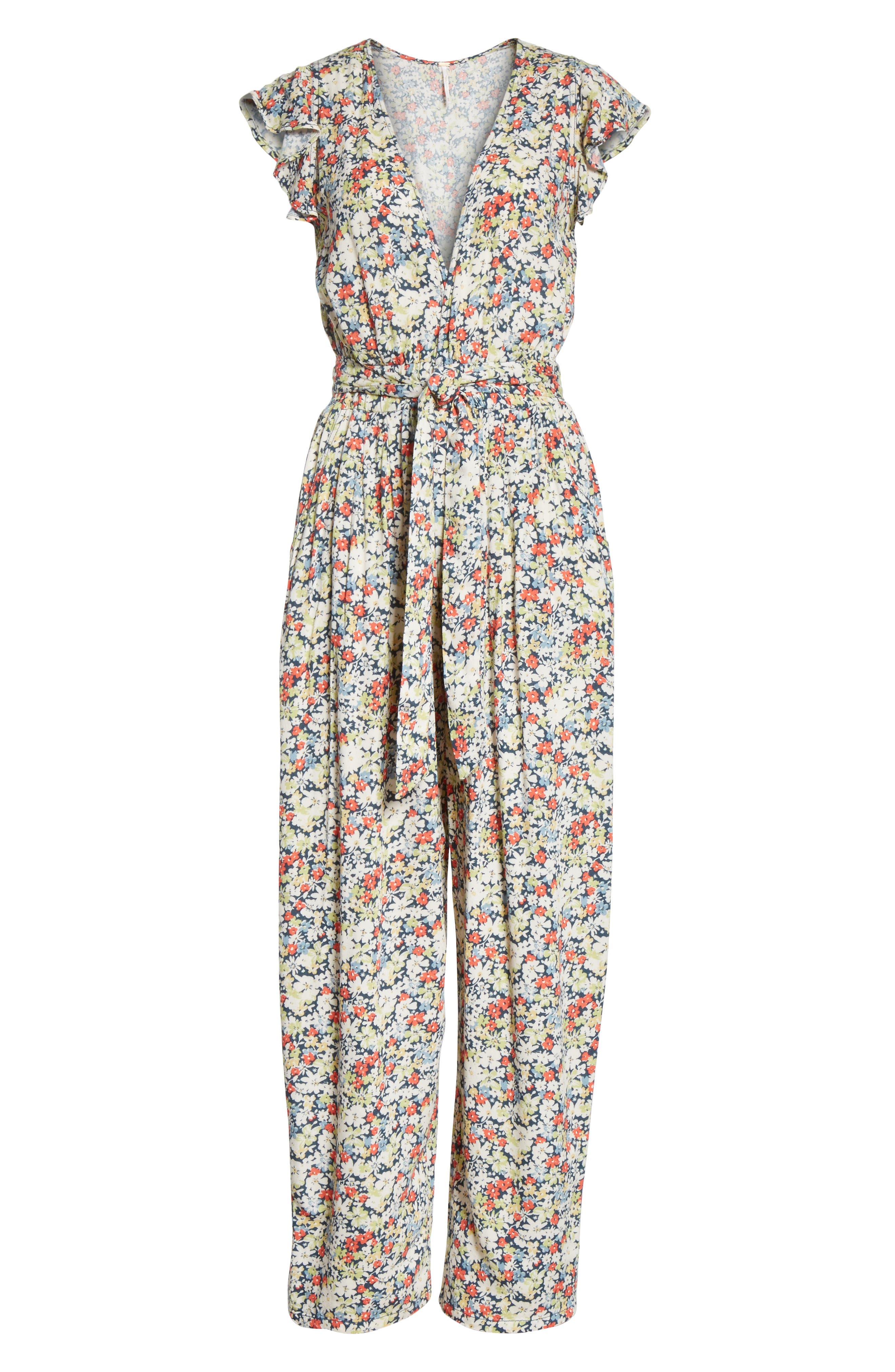 Ruffle Your Feathers Jumpsuit,                             Alternate thumbnail 6, color,                             410