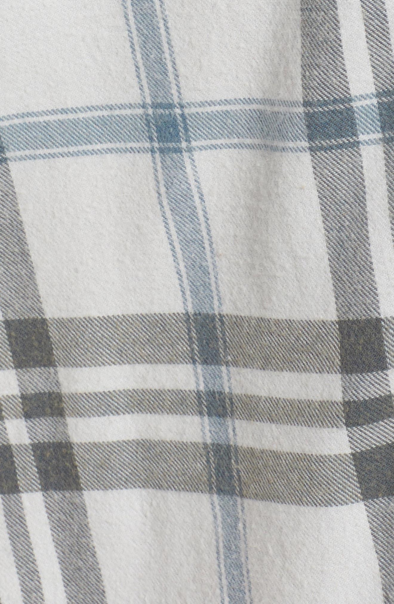 Plaid Cotton Blend Nightshirt,                             Alternate thumbnail 43, color,