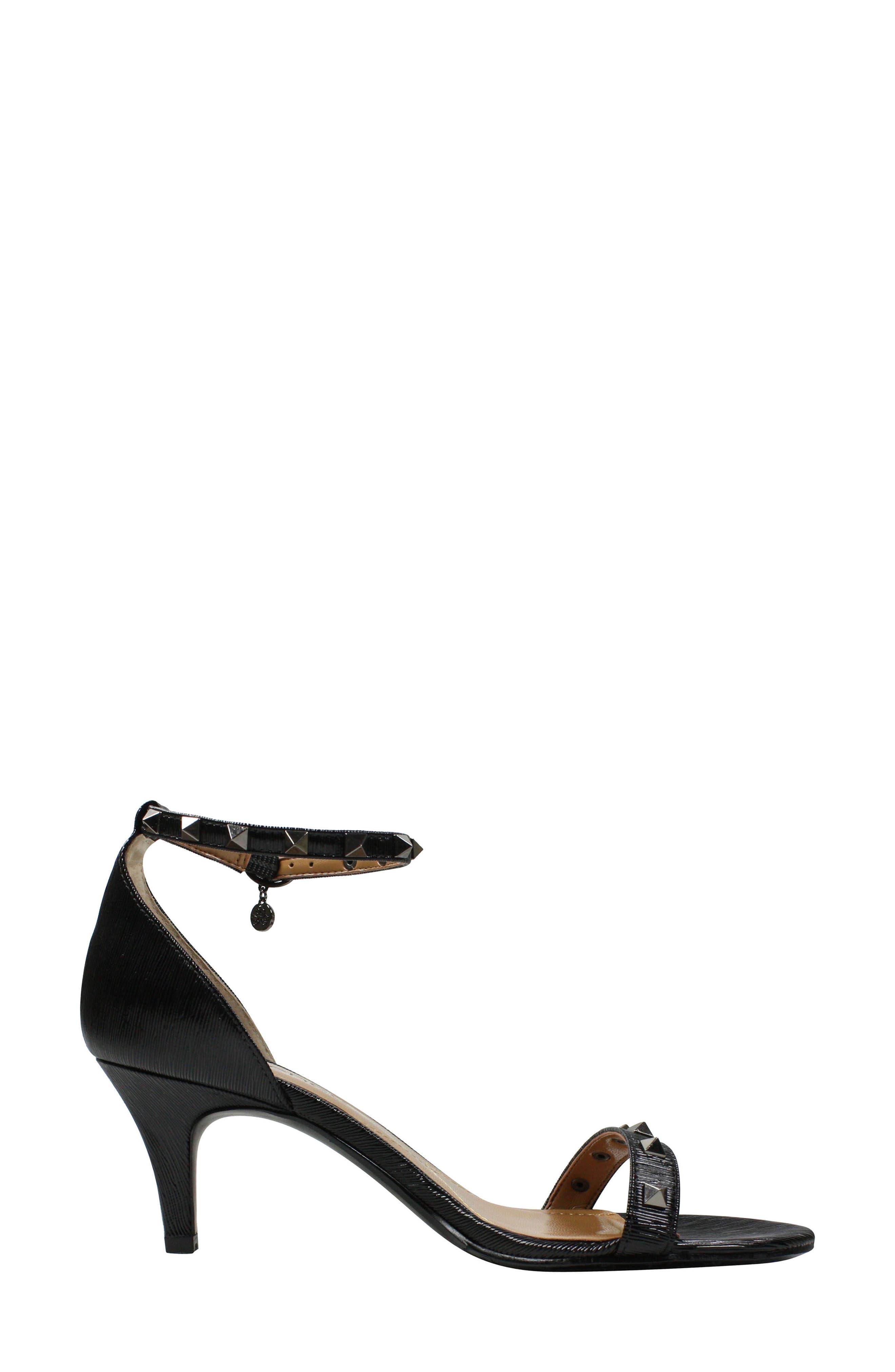 Lerida Studded Ankle Strap Sandal,                             Alternate thumbnail 2, color,                             001