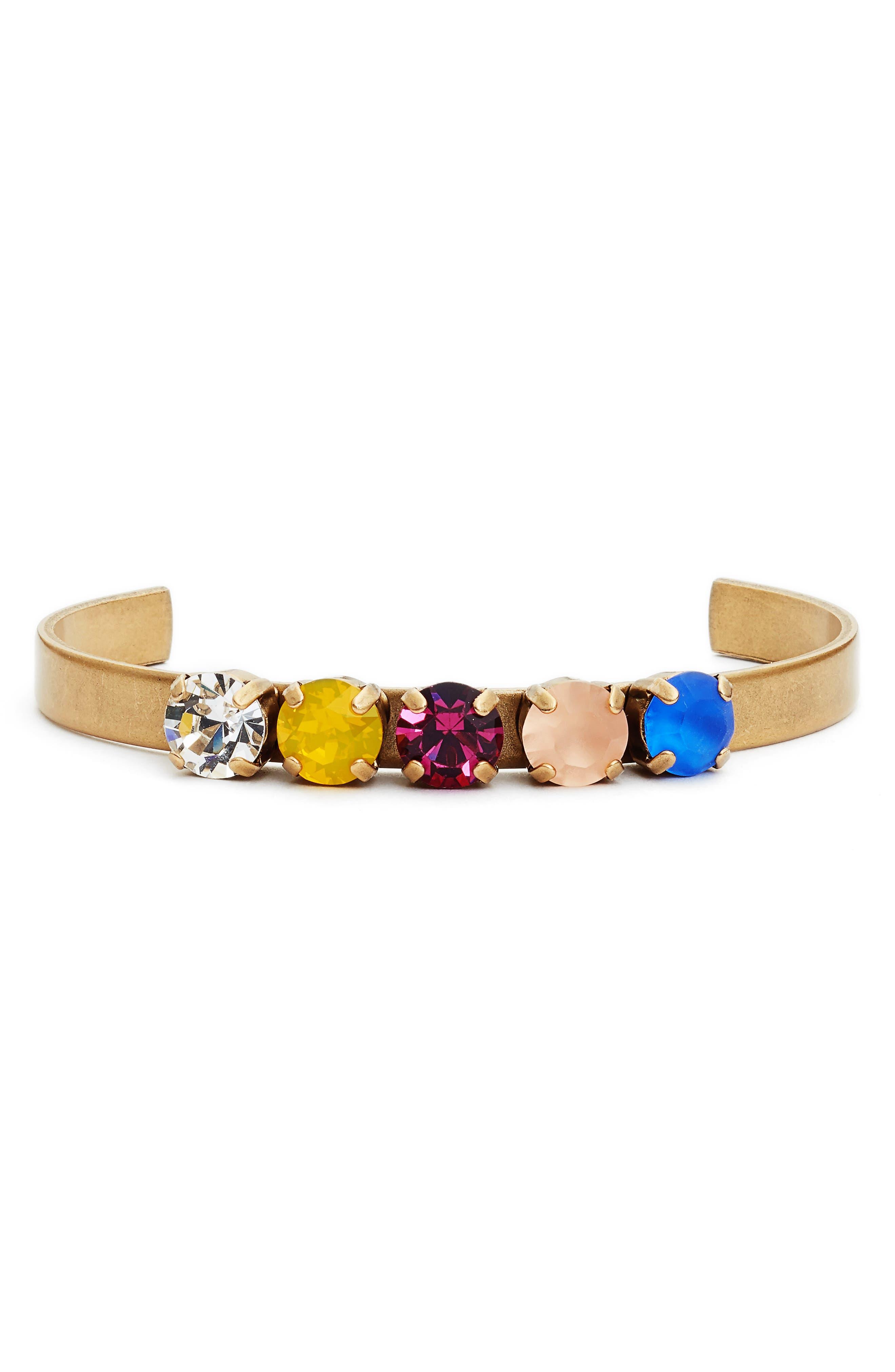 Quinn Statement Cuff Bracelet,                             Main thumbnail 1, color,                             GOLD MULTI
