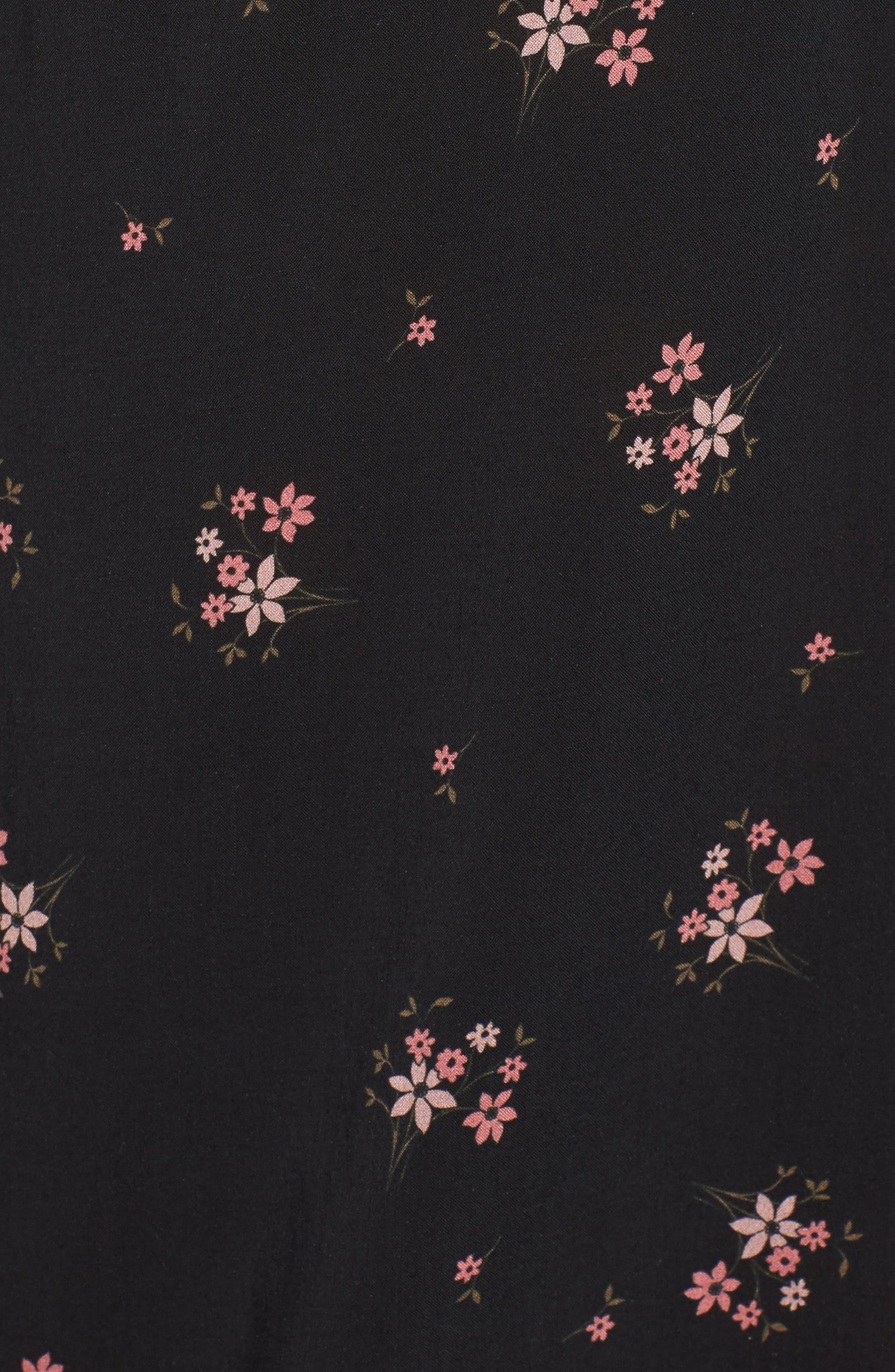 Floral Blouson Sleeve Dress,                             Alternate thumbnail 6, color,                             CAMELLIA