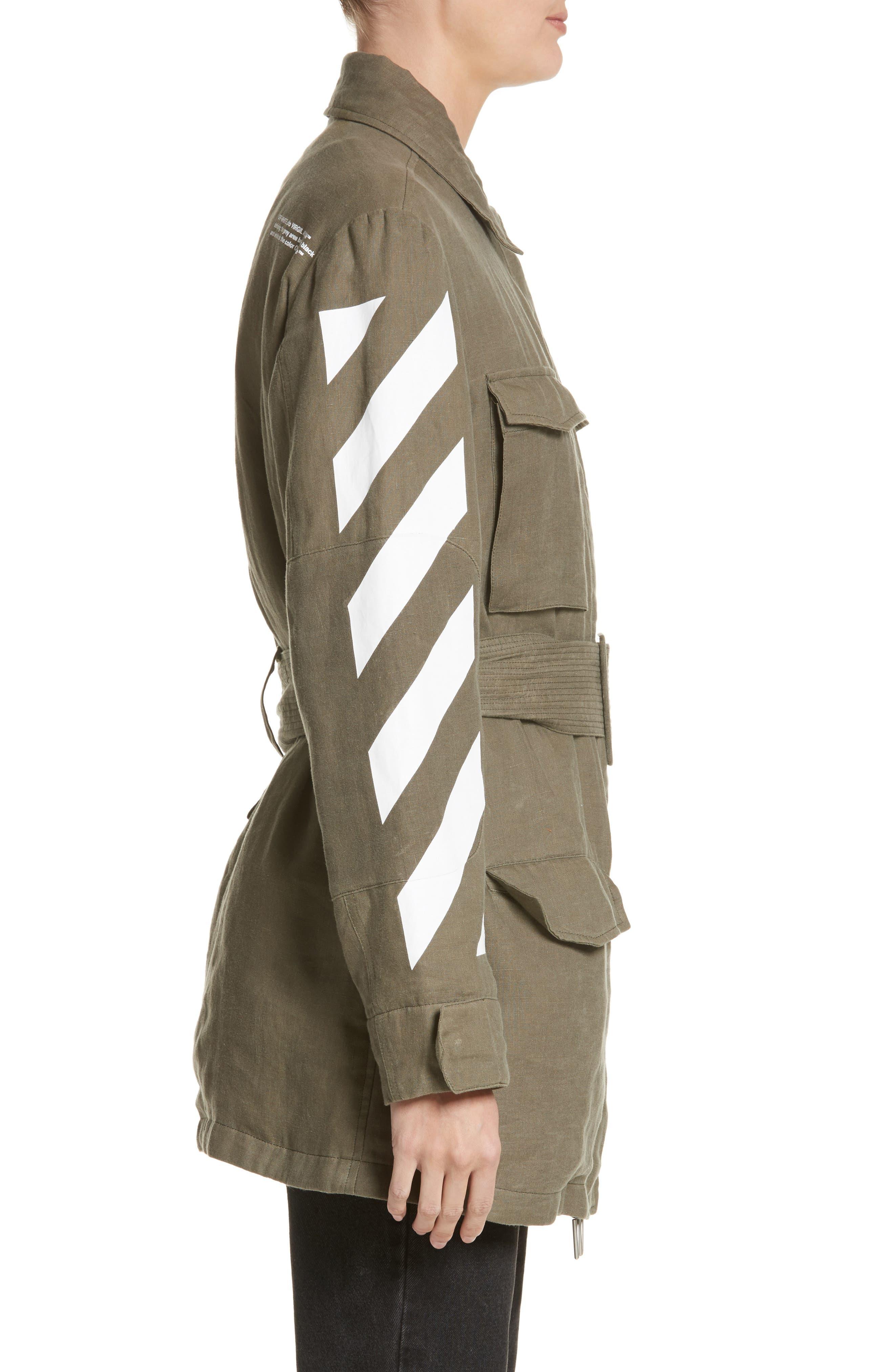 Diagonal Stripe Field Jacket,                             Alternate thumbnail 3, color,                             300