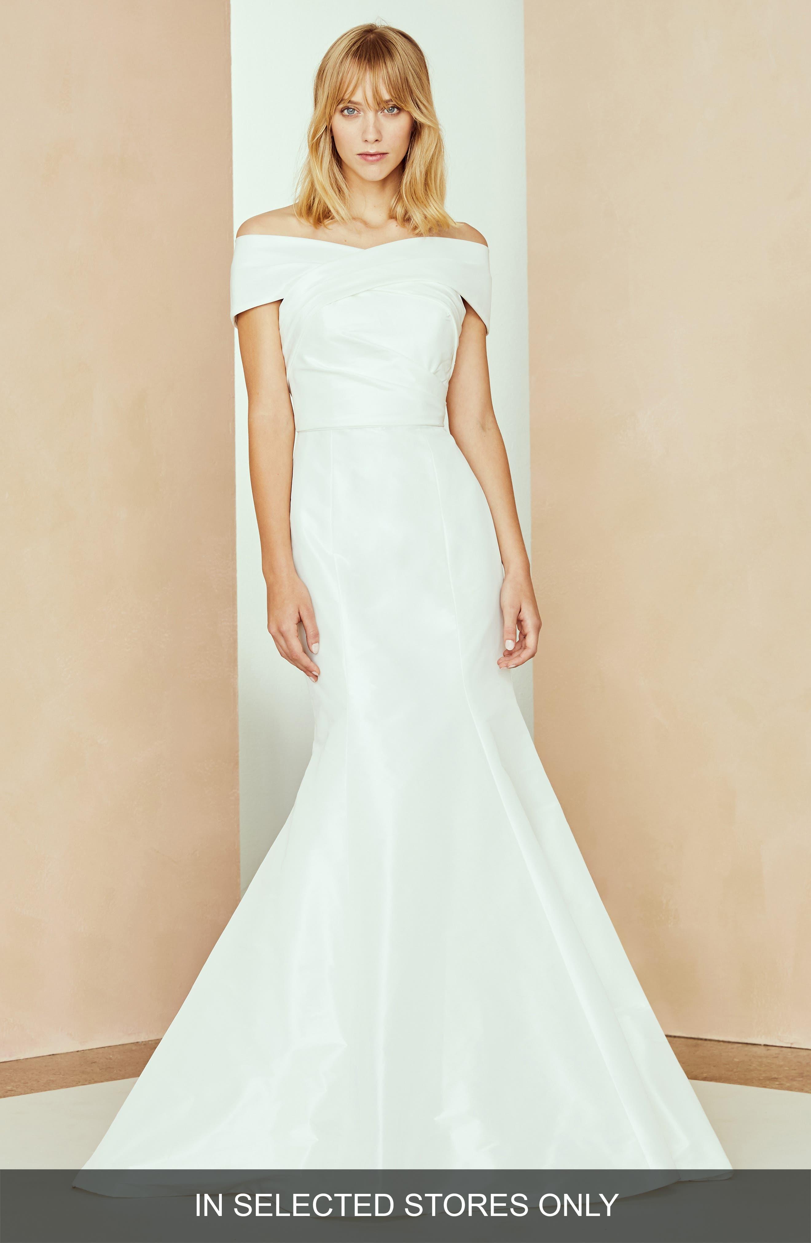 Nouvelle Amsale Isa Off The Shoulder Dress, Size - White