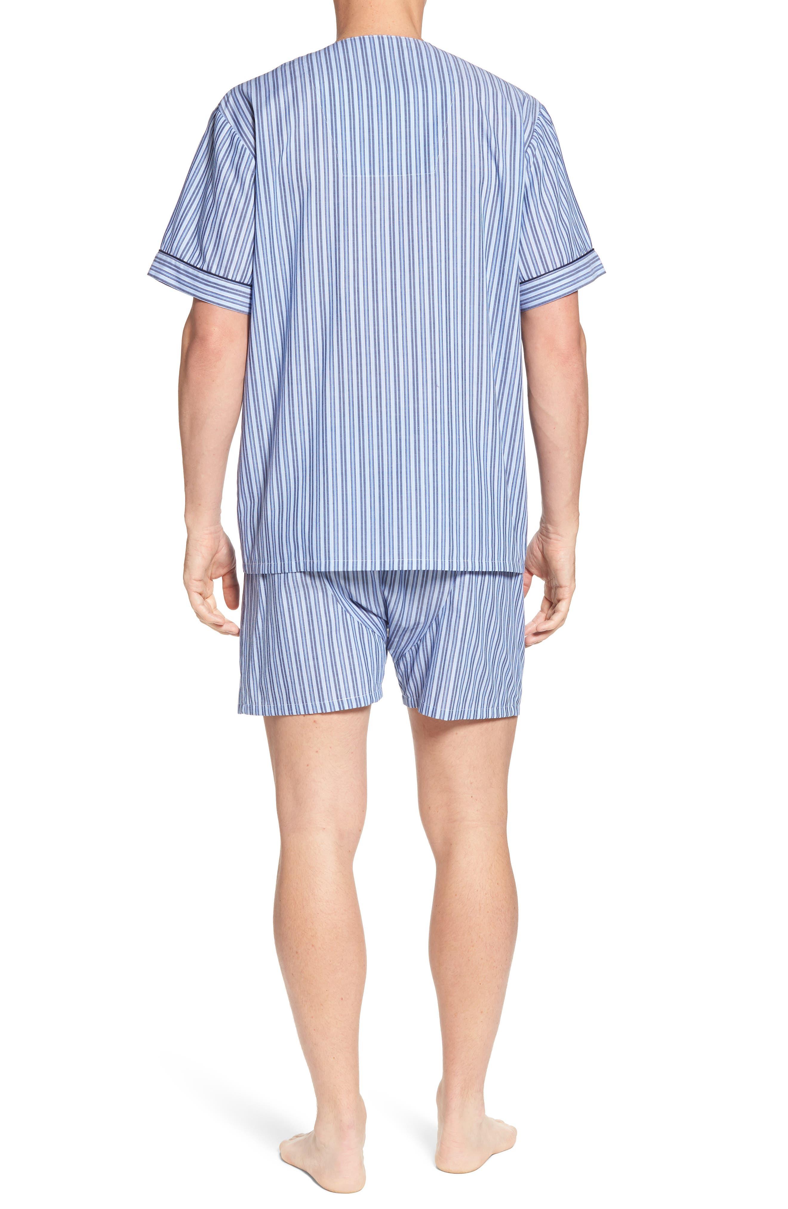 Carefree Shorty Pajama Set,                             Alternate thumbnail 2, color,                             BLUE STRIPE