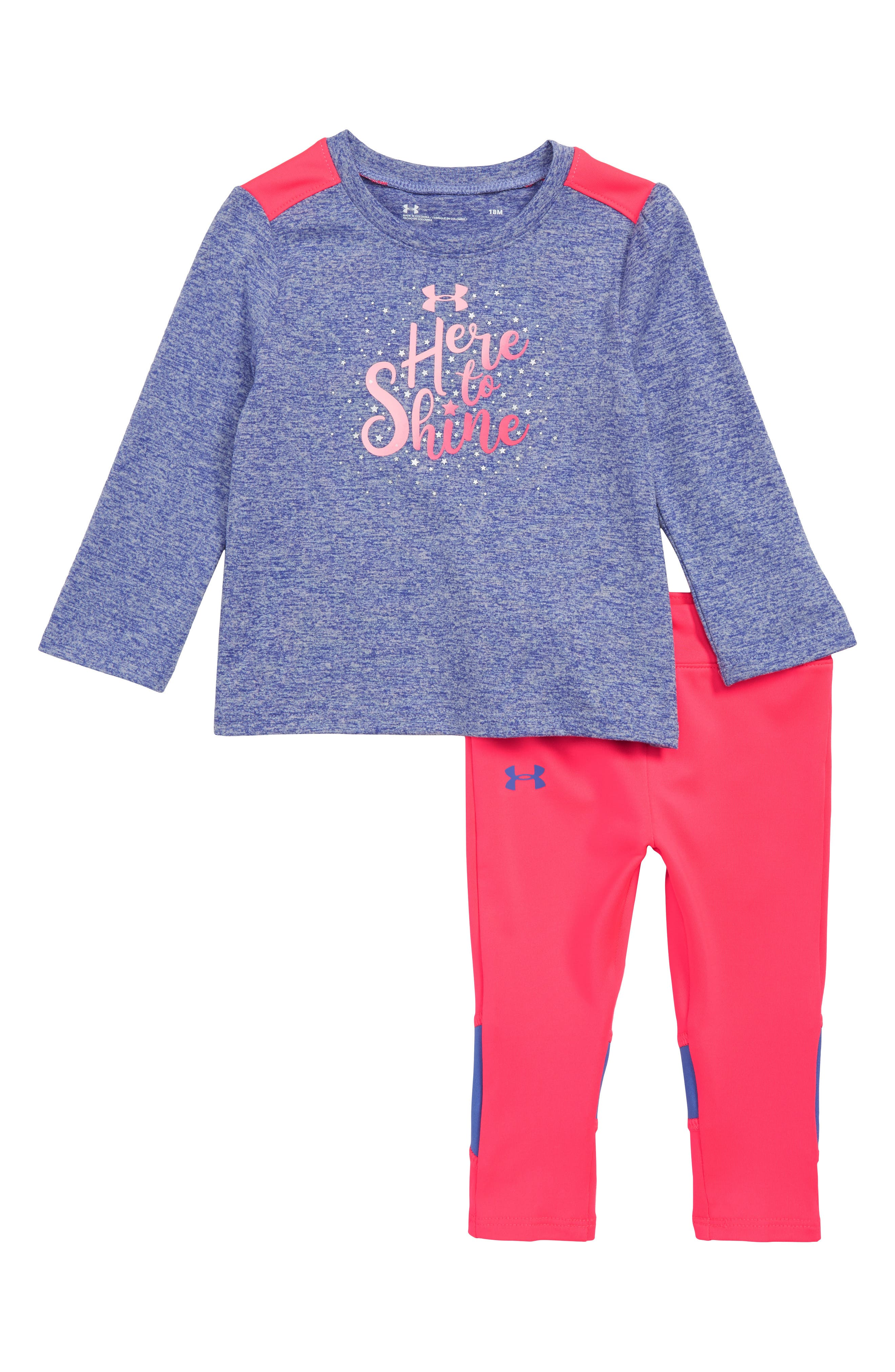 Infant Girls Under Armour Here To Shine Tee  Leggings Set
