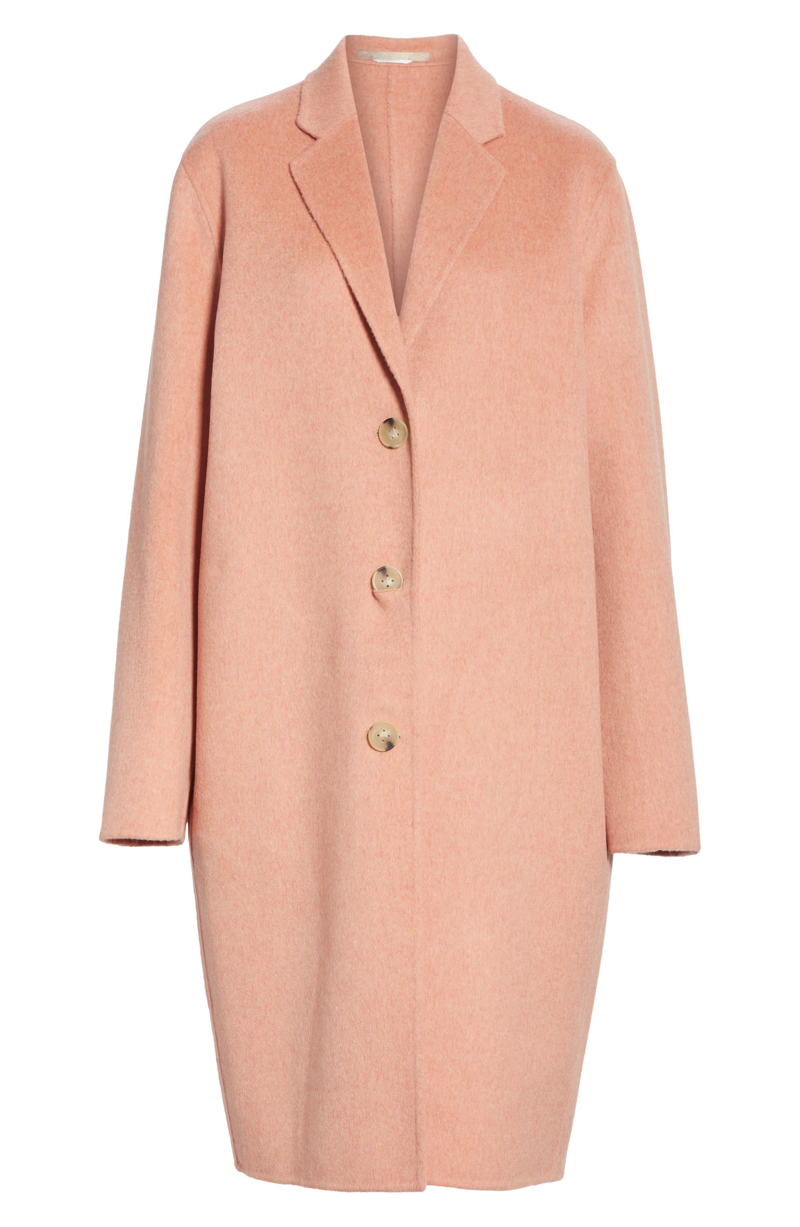 Double Wool & Cashmere Coat,                             Alternate thumbnail 5, color,                             650