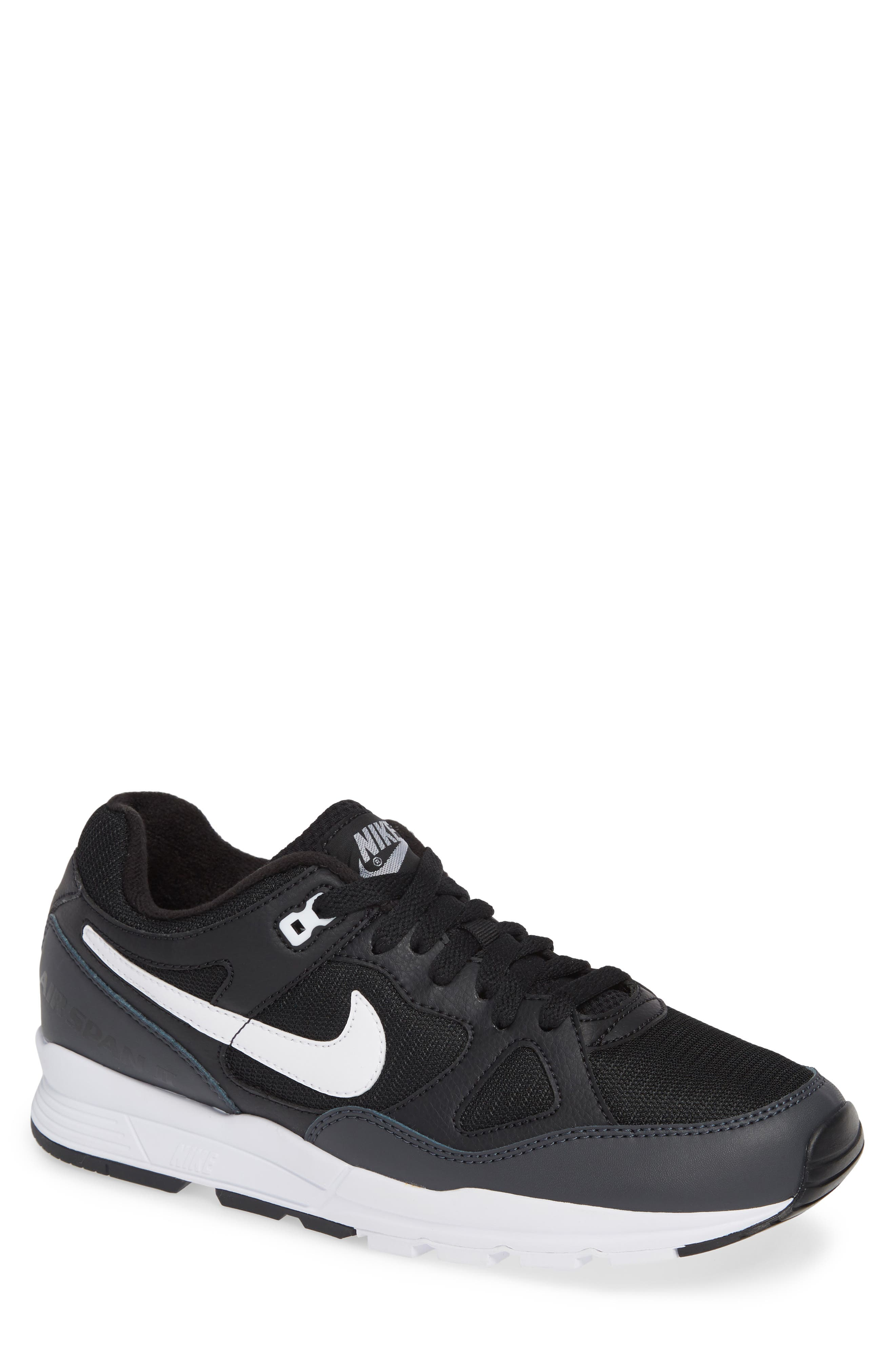 Air Span II Sneaker,                         Main,                         color, BLACK/ WHITE/ ANTHRACITE