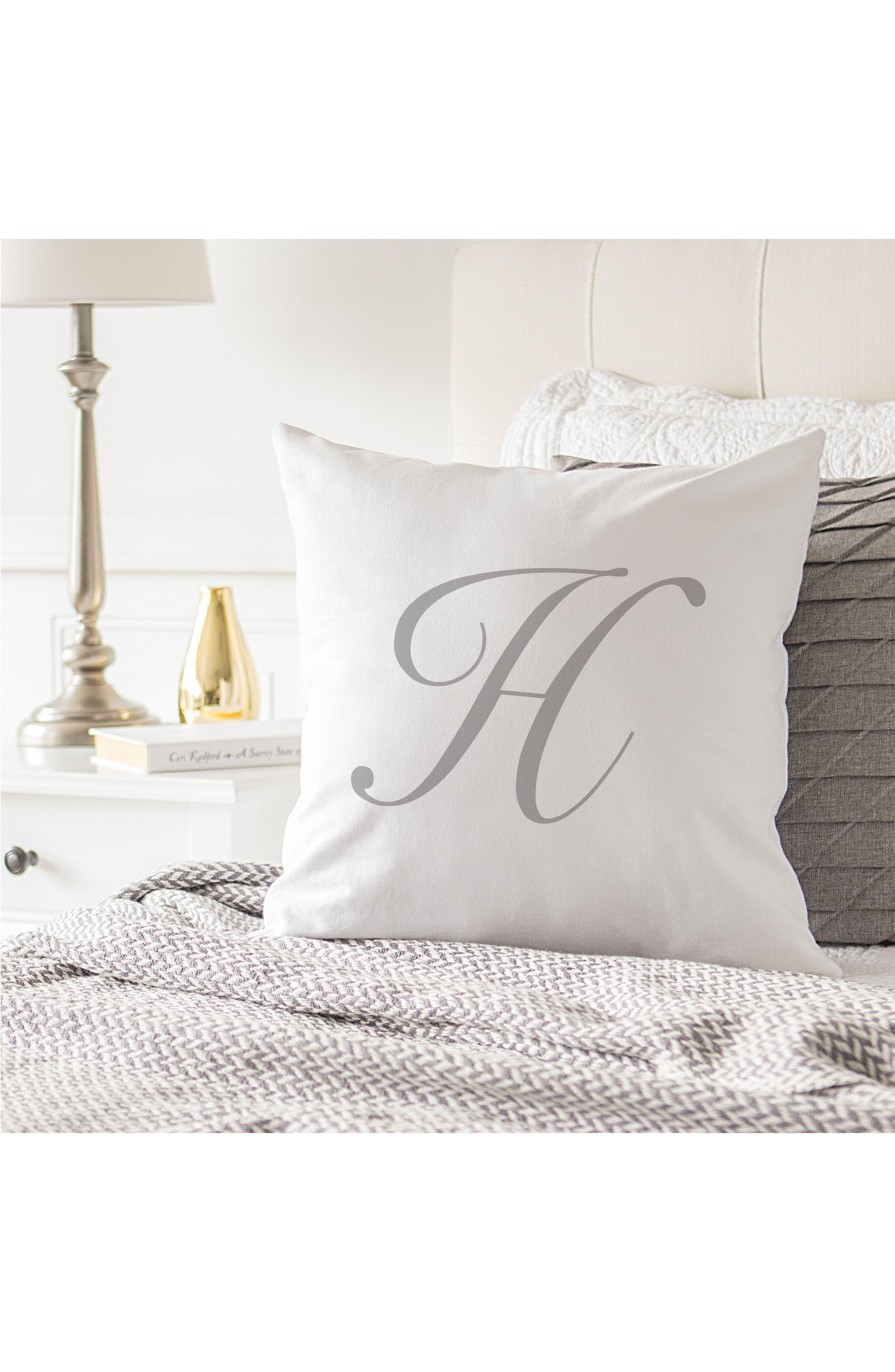 Script Monogram Accent Pillow,                             Alternate thumbnail 30, color,