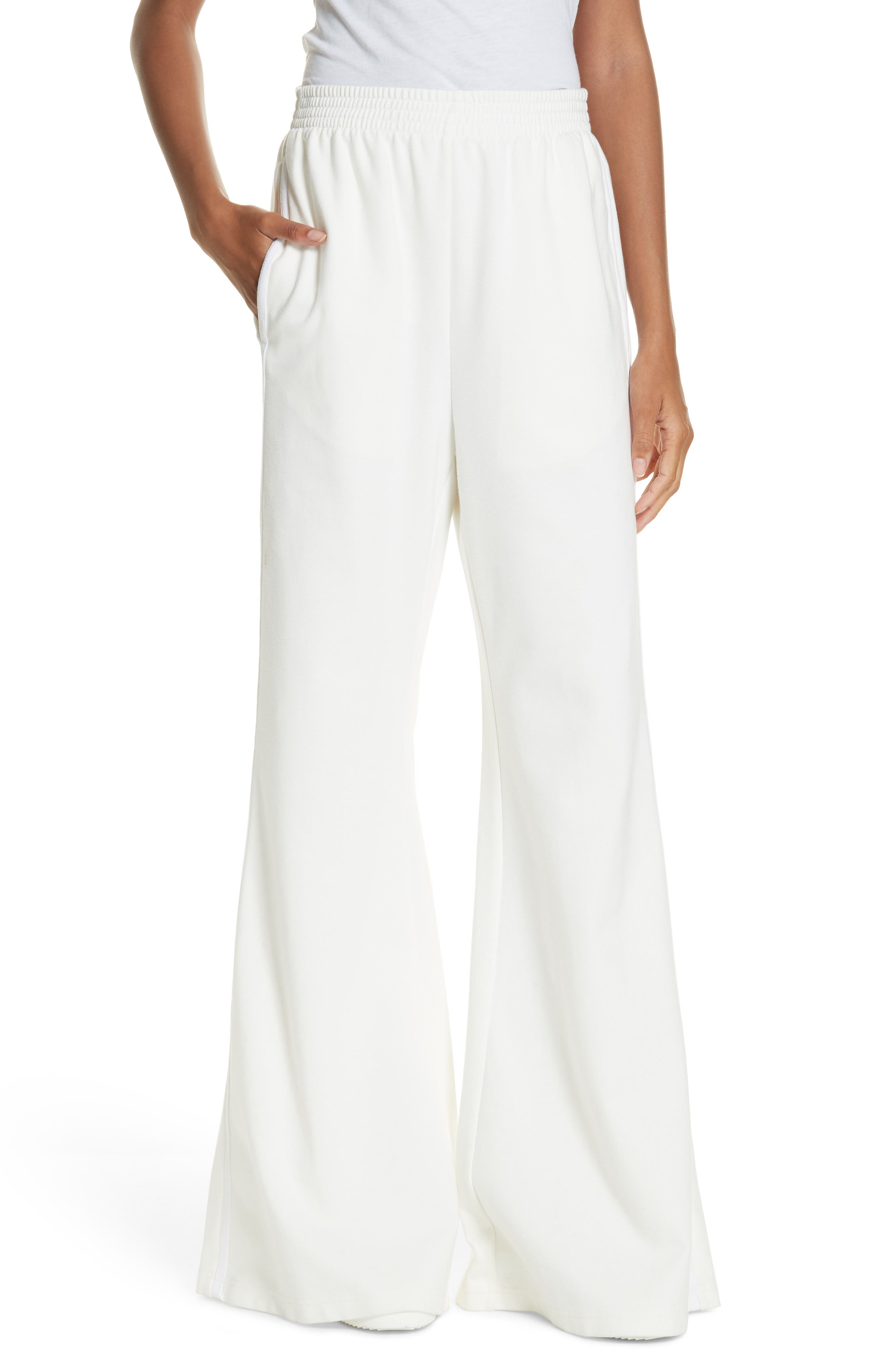 Mm6 Maison Margiela Flare Track Pants, White
