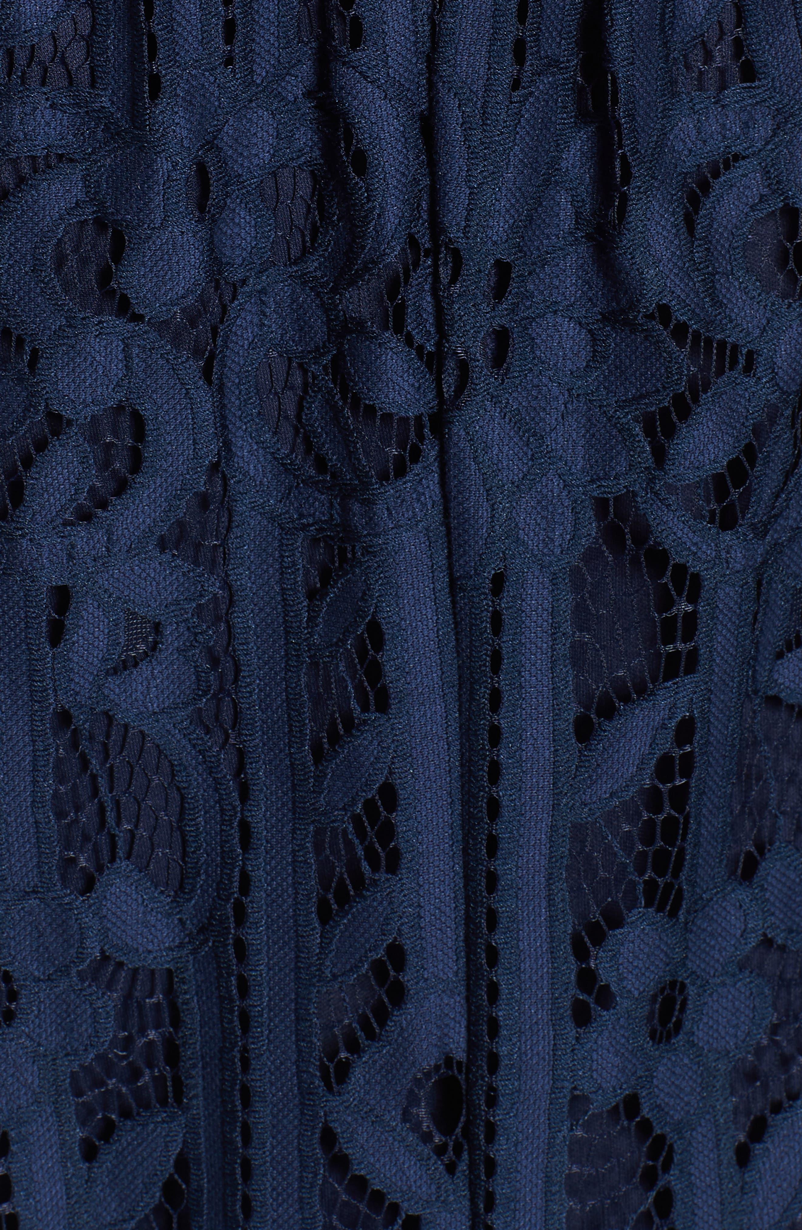 Lace Shift Dress,                             Alternate thumbnail 6, color,                             MIDNIGHT
