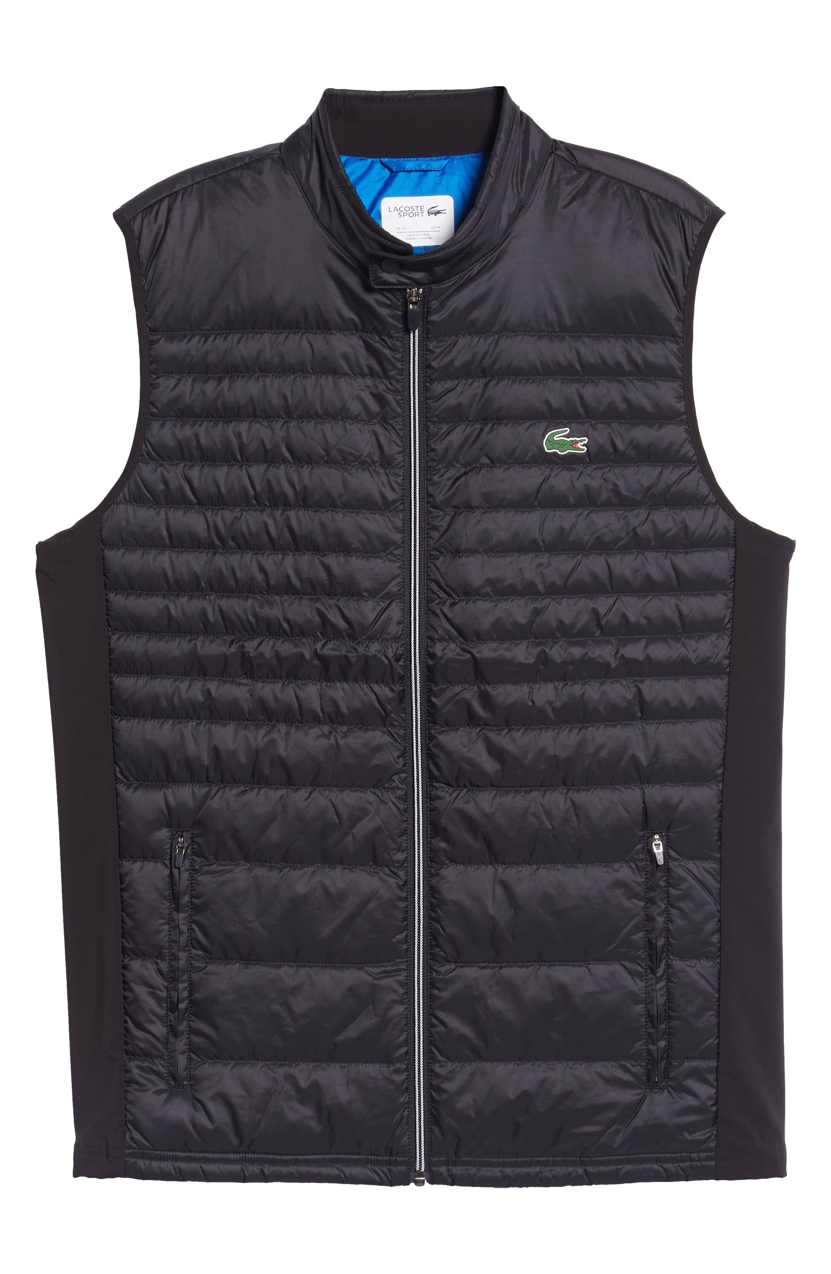 Sport Water Resistant Quilted Down Golf Vest,                             Alternate thumbnail 5, color,                             010